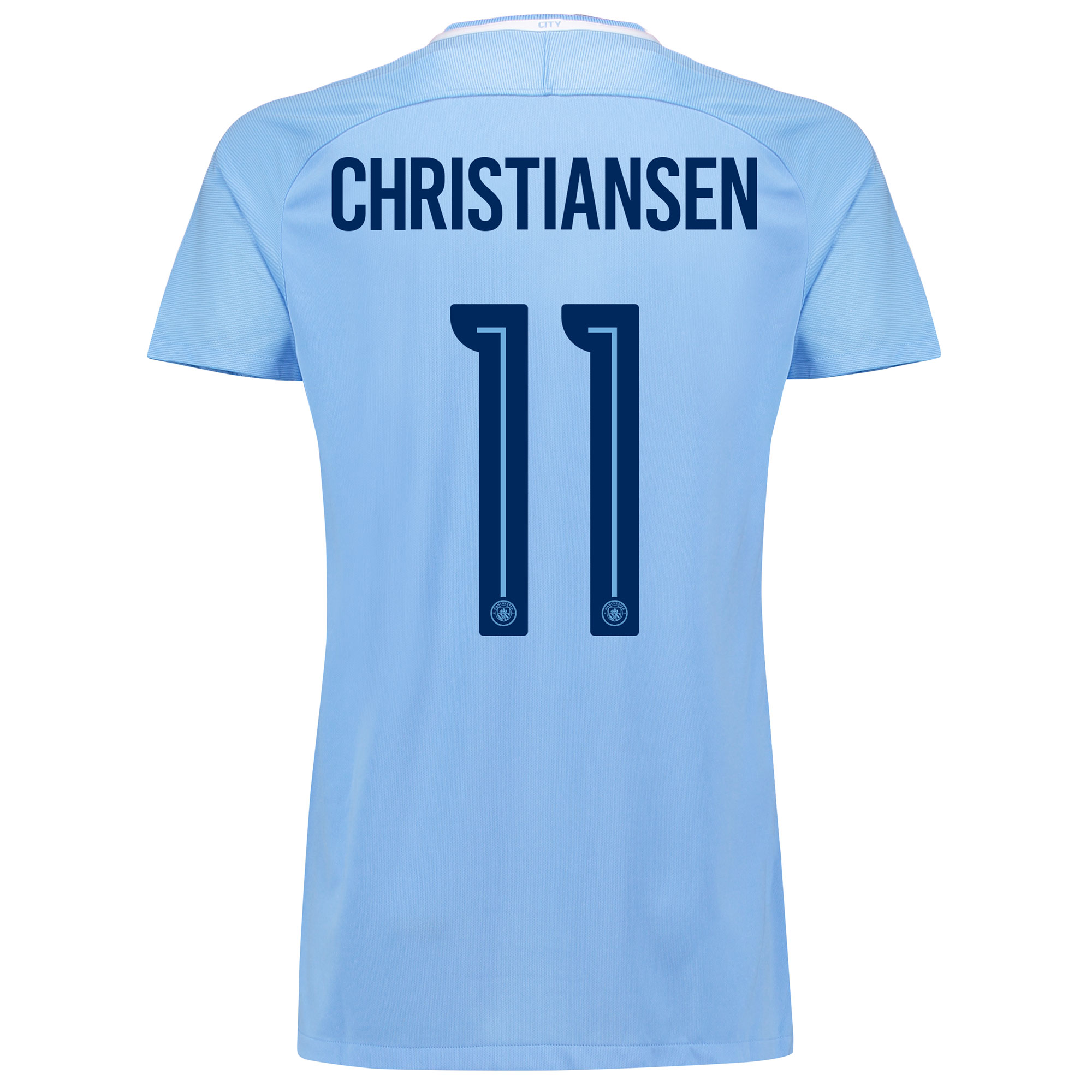 Manchester City Home Stadium Cup Shirt 2017-18 - Womens with Christian