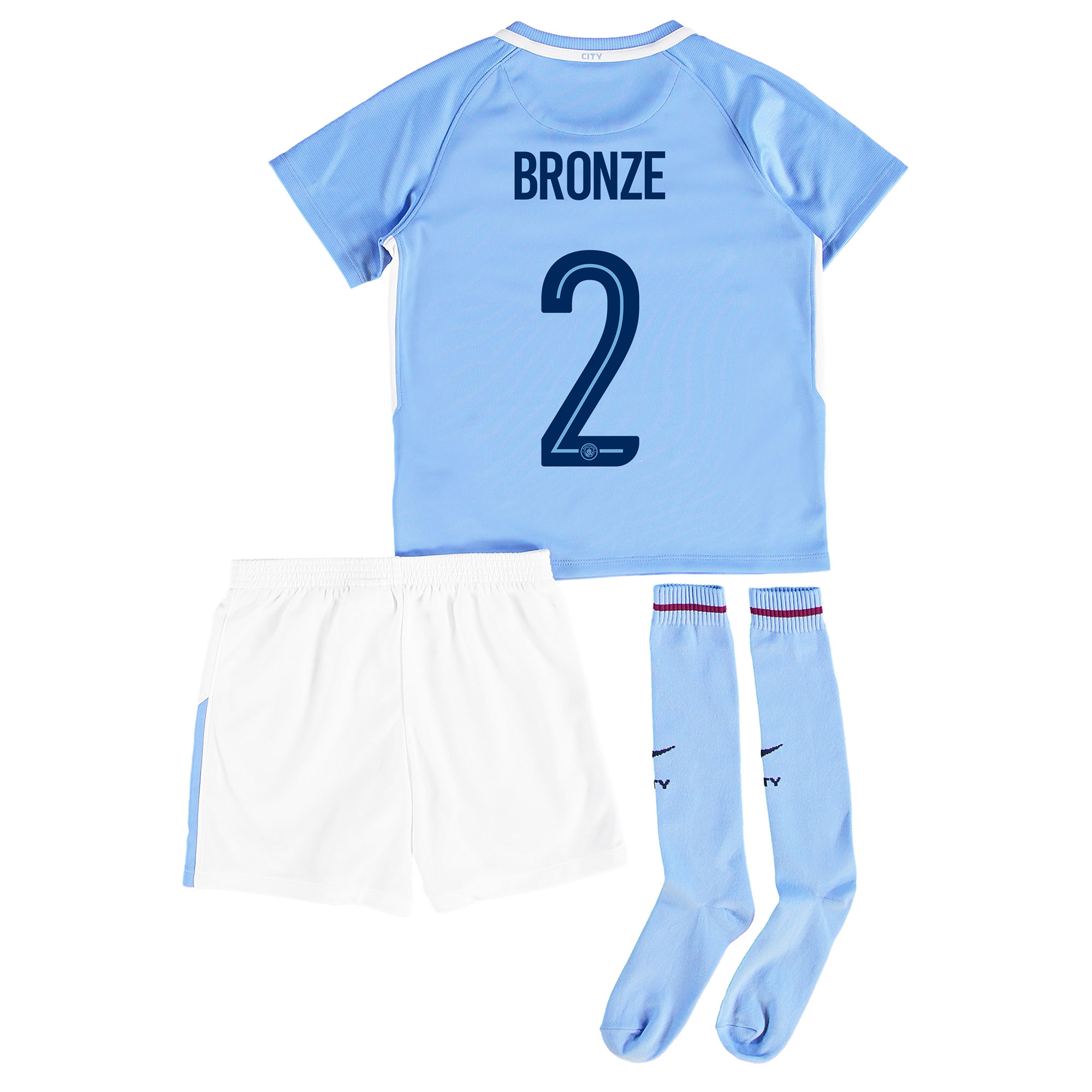 Manchester City Home Stadium Cup Kit 2017-18 - Little Kids with Bronze