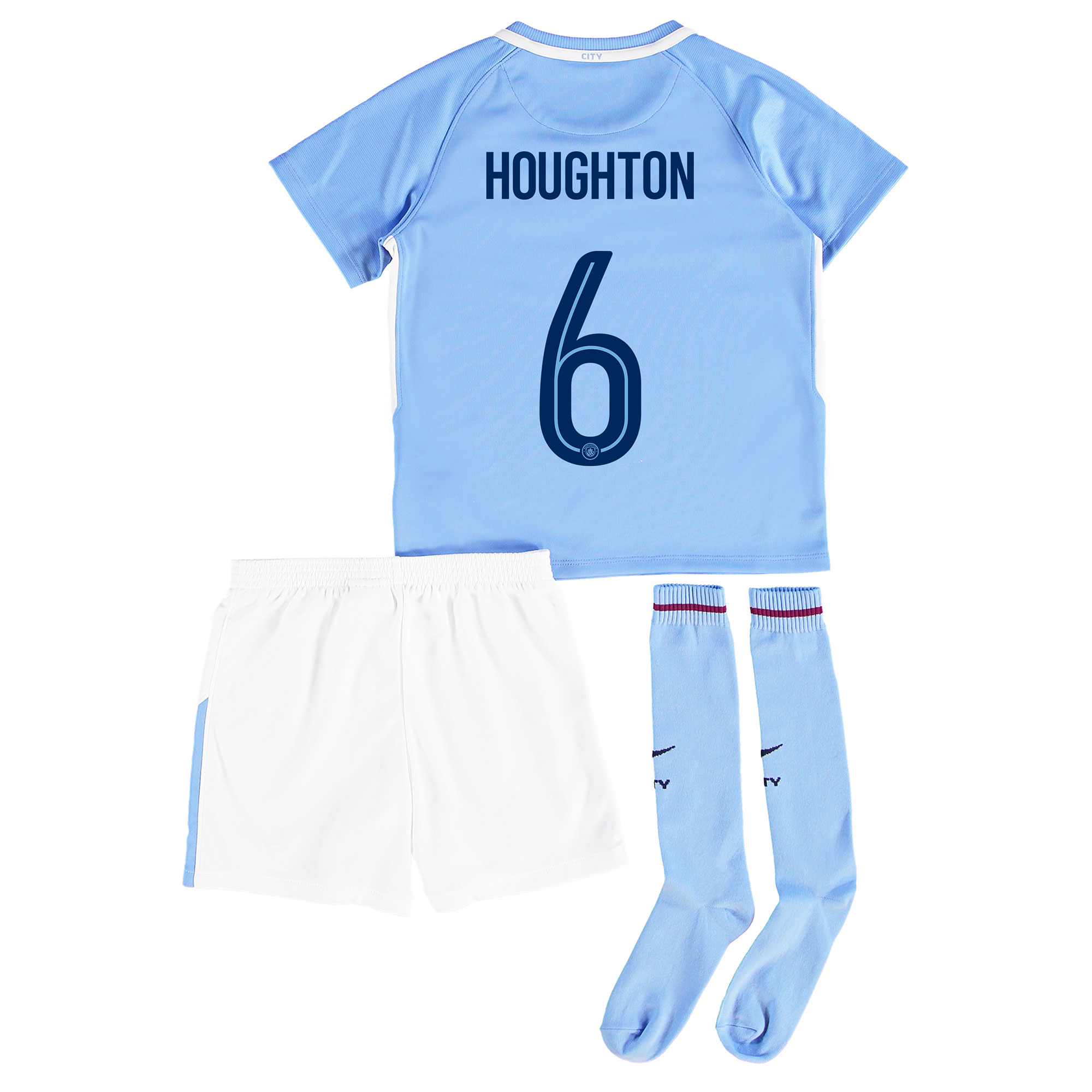Manchester City Home Stadium Cup Kit 2017-18 - Little Kids with Hought