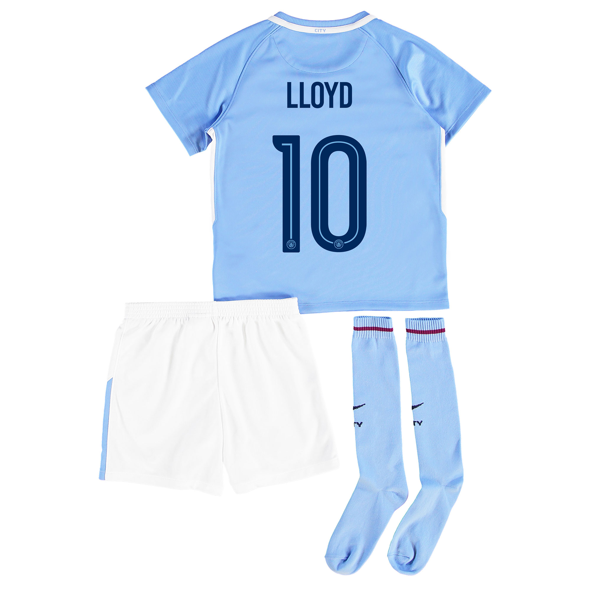 Manchester City Home Stadium Cup Kit 2017-18 - Little Kids with Lloyd