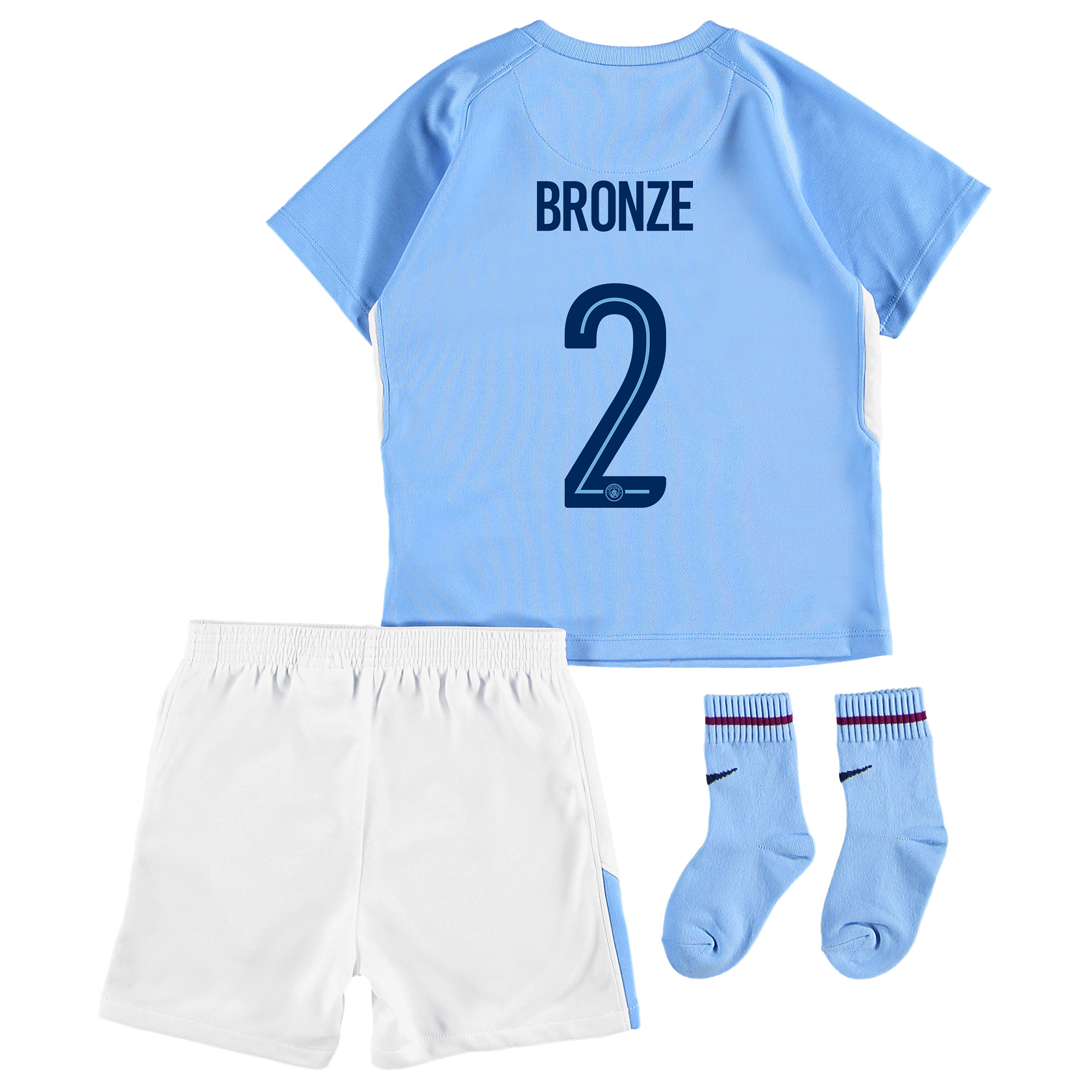 Manchester City Home Stadium Cup Kit 2017-18 - Infants with Bronze 2 p