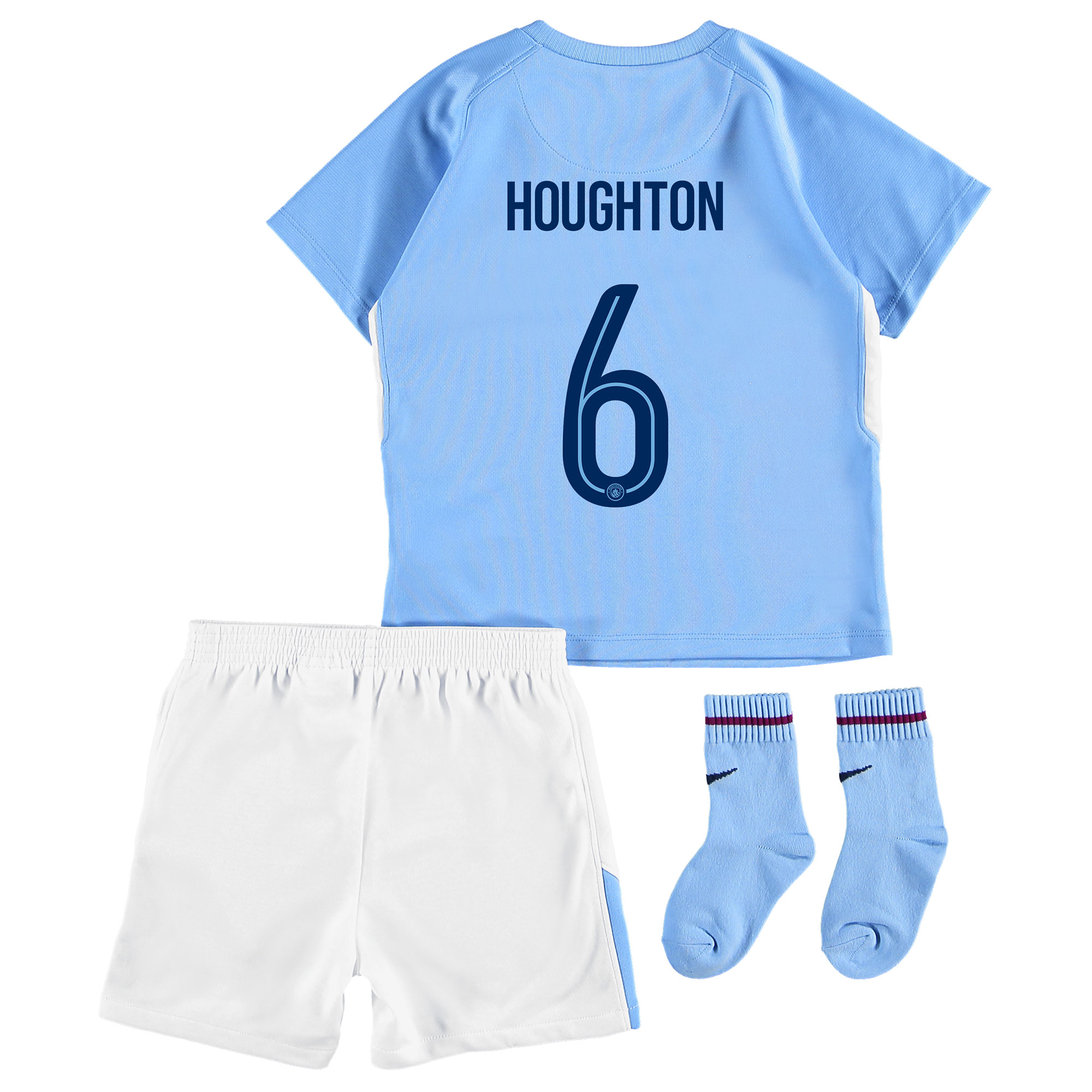 Manchester City Home Stadium Cup Kit 2017-18 - Infants with Houghton 6