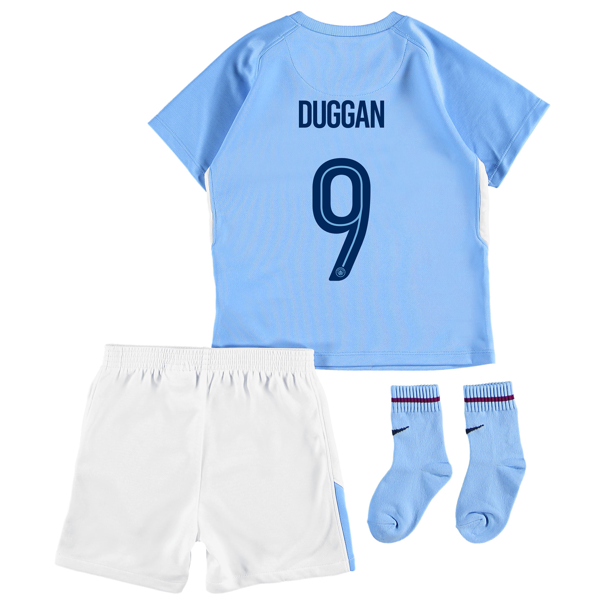 Manchester City Home Stadium Cup Kit 2017-18 - Infants with Duggan 9 p