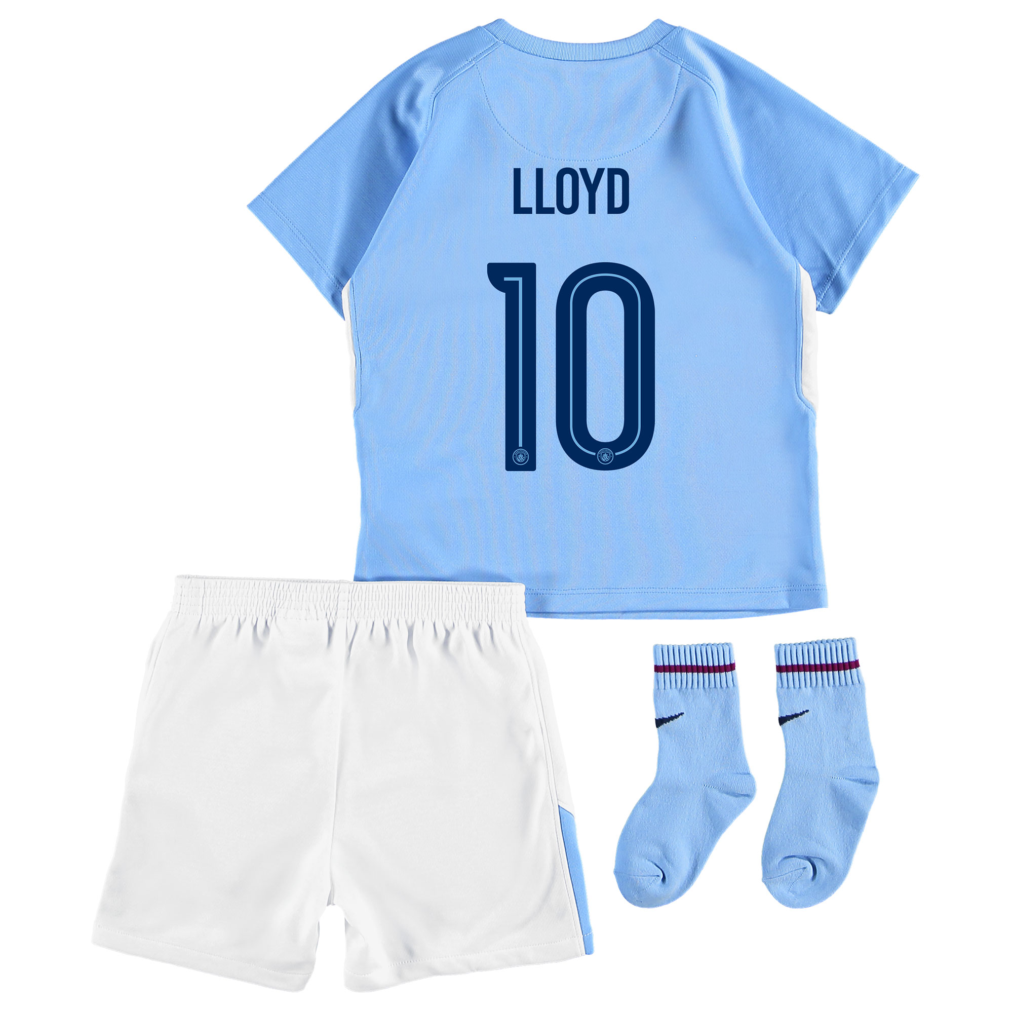 Manchester City Home Stadium Cup Kit 2017-18 - Infants with Lloyd 10 p