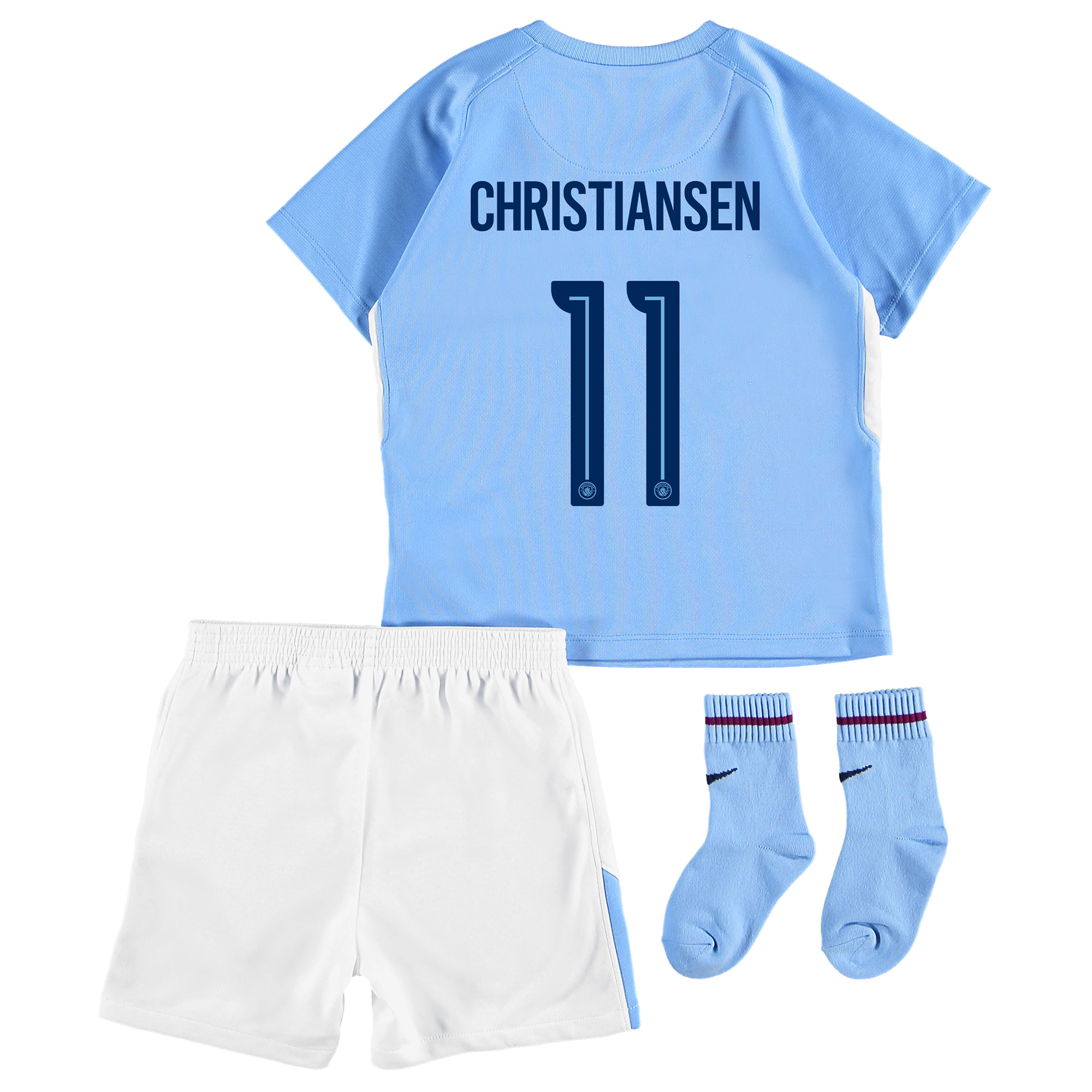 Manchester City Home Stadium Cup Kit 2017-18 - Infants with Christians