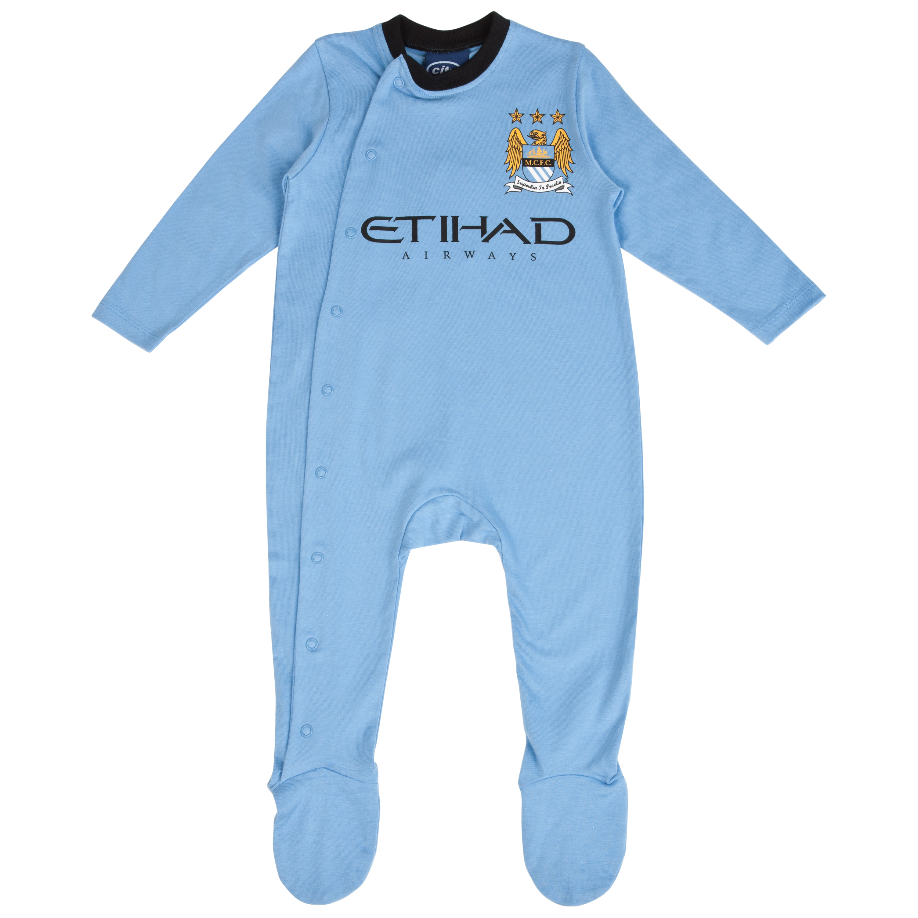 Manchester City 12/13 Kit Sleepsuit - Sky - Baby