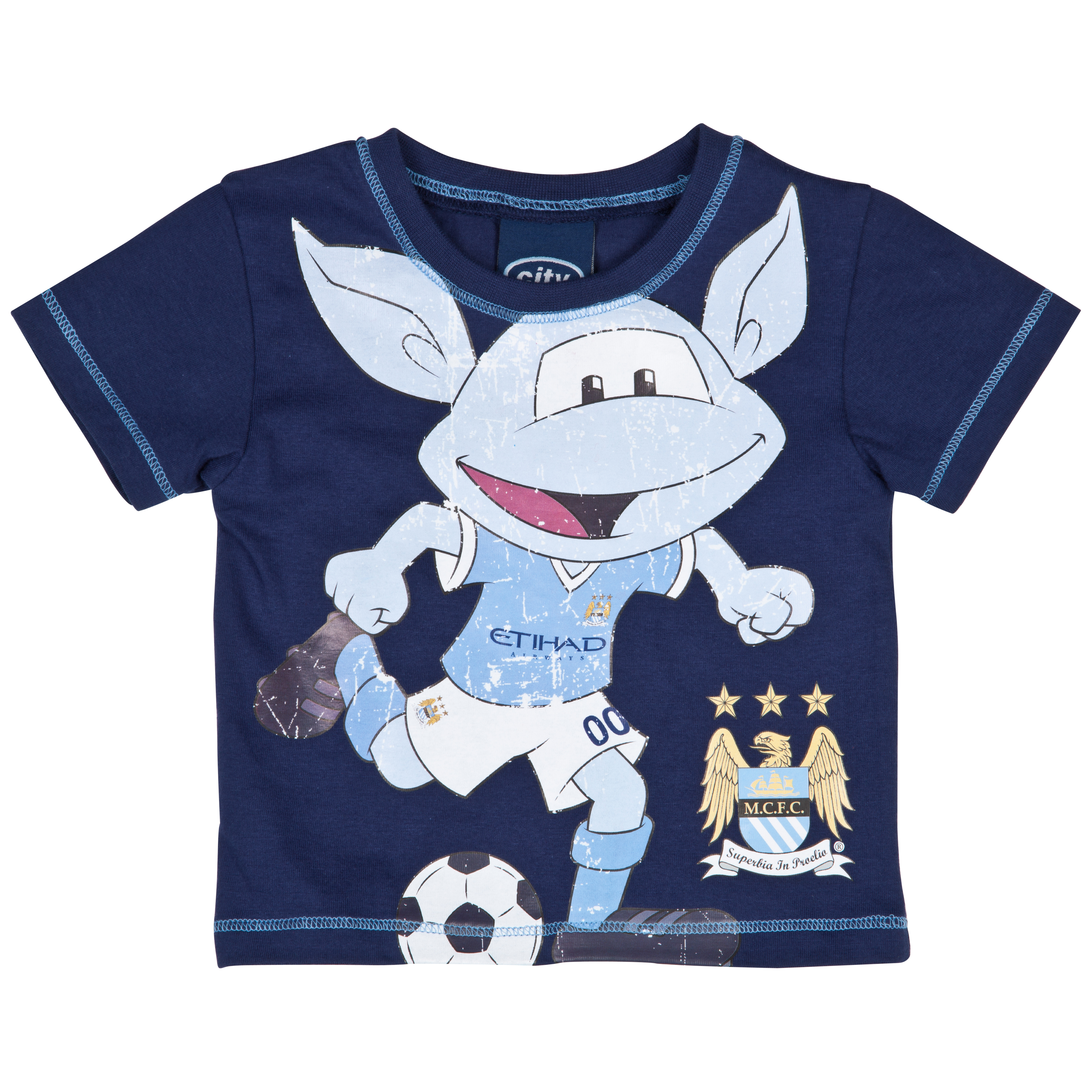 Manchester City Moony T-Shirt - Navy/Sky - Baby