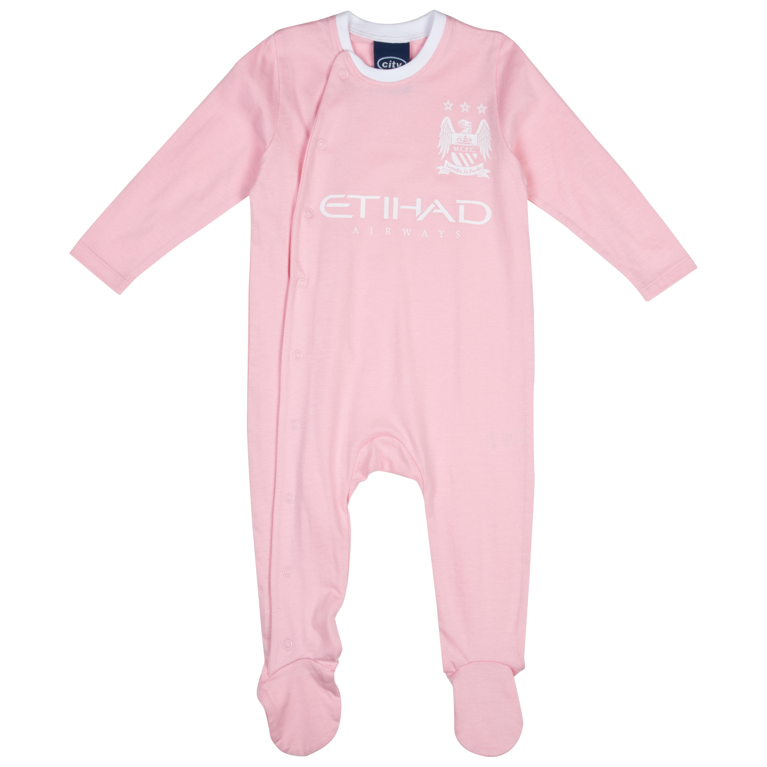 Manchester City 12/13 Kit Sleepsuit - Pink/White - Baby
