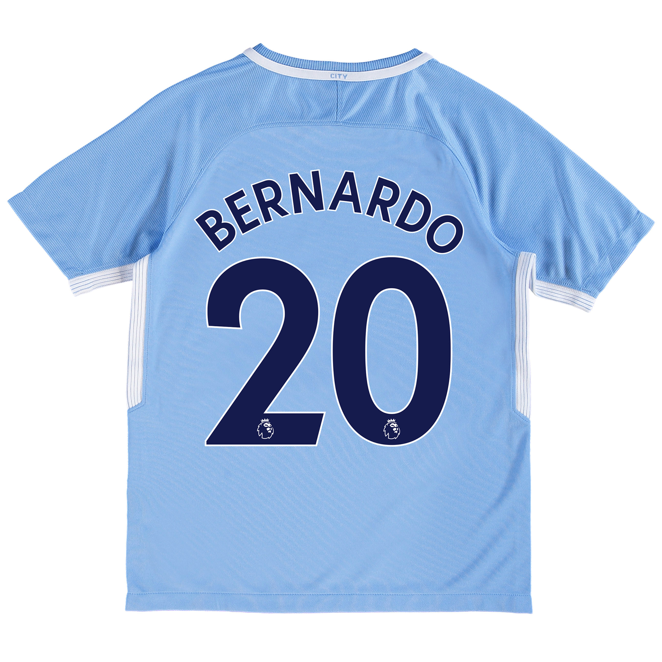 Manchester City Home Stadium Shirt 2017-18 - Kids with Bernardo 20 pri