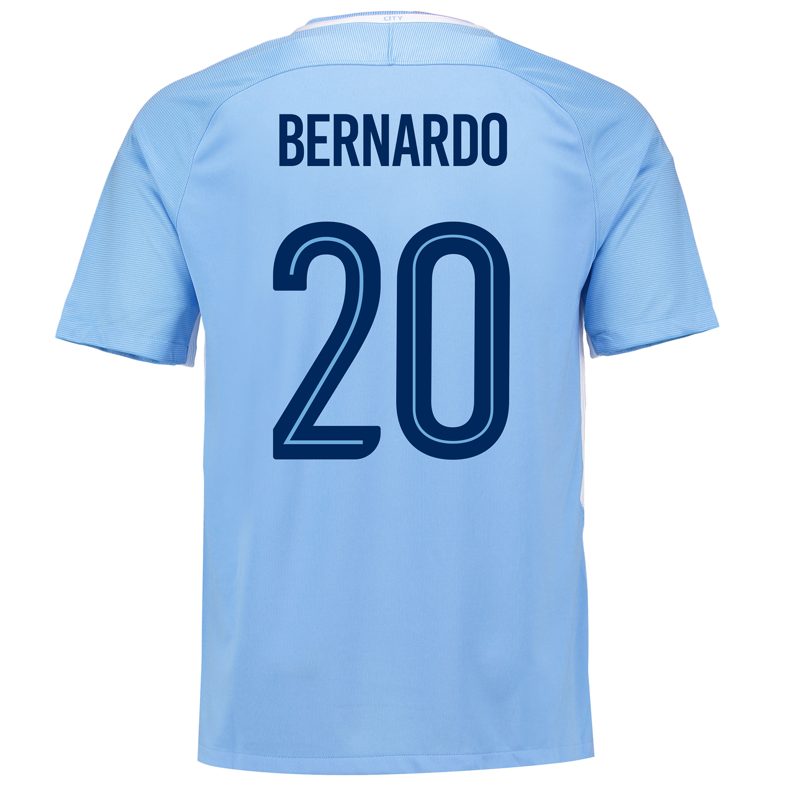 Manchester City Home Stadium Cup Shirt 2017-18 with Bernardo 20 printi