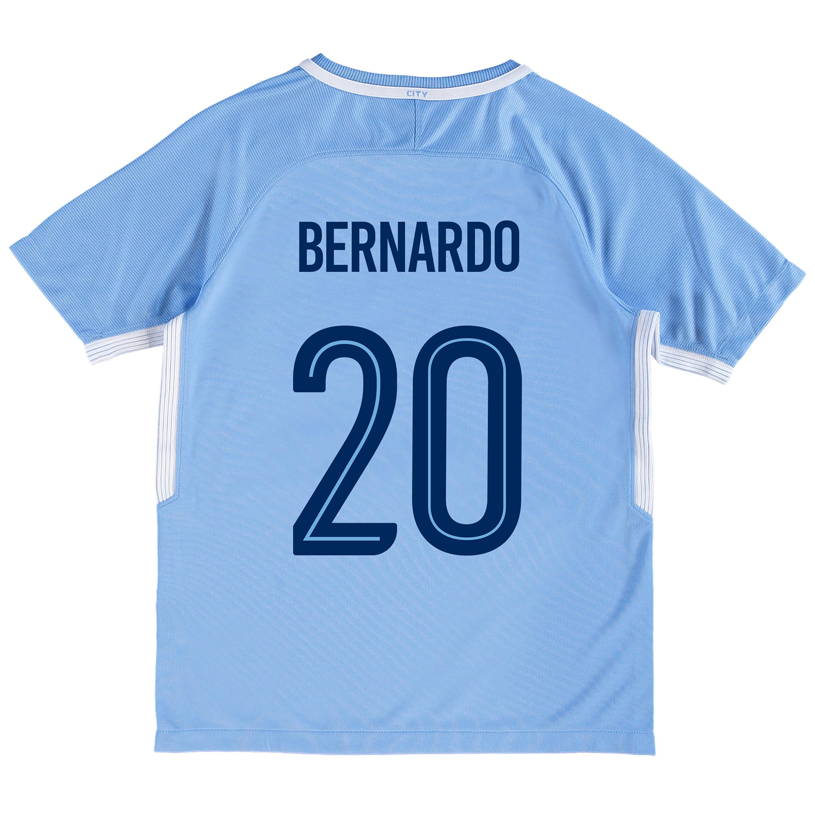 Manchester City Home Stadium Cup Shirt 2017-18 - Kids with Bernardo 20