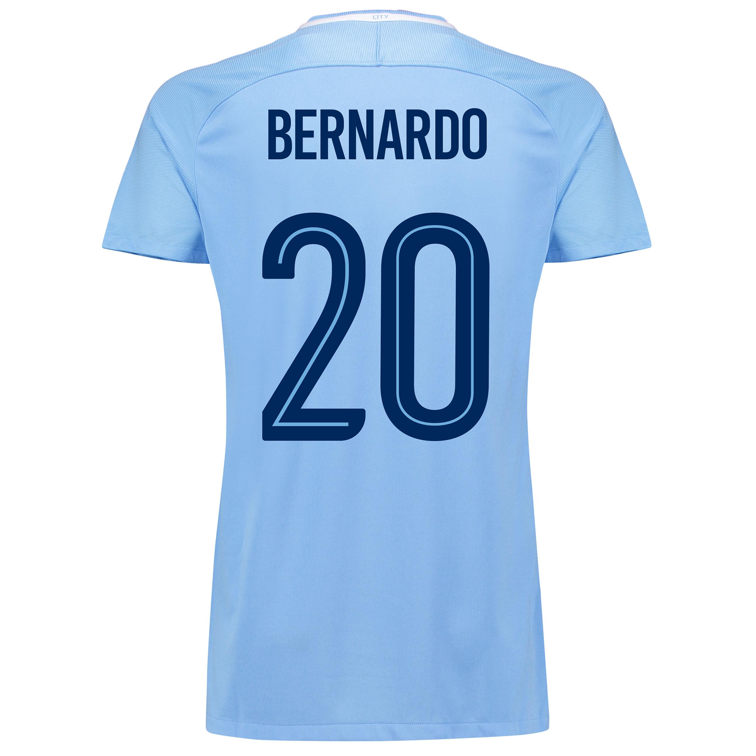 Manchester City Home Stadium Cup Shirt 2017-18 - Womens with Bernardo