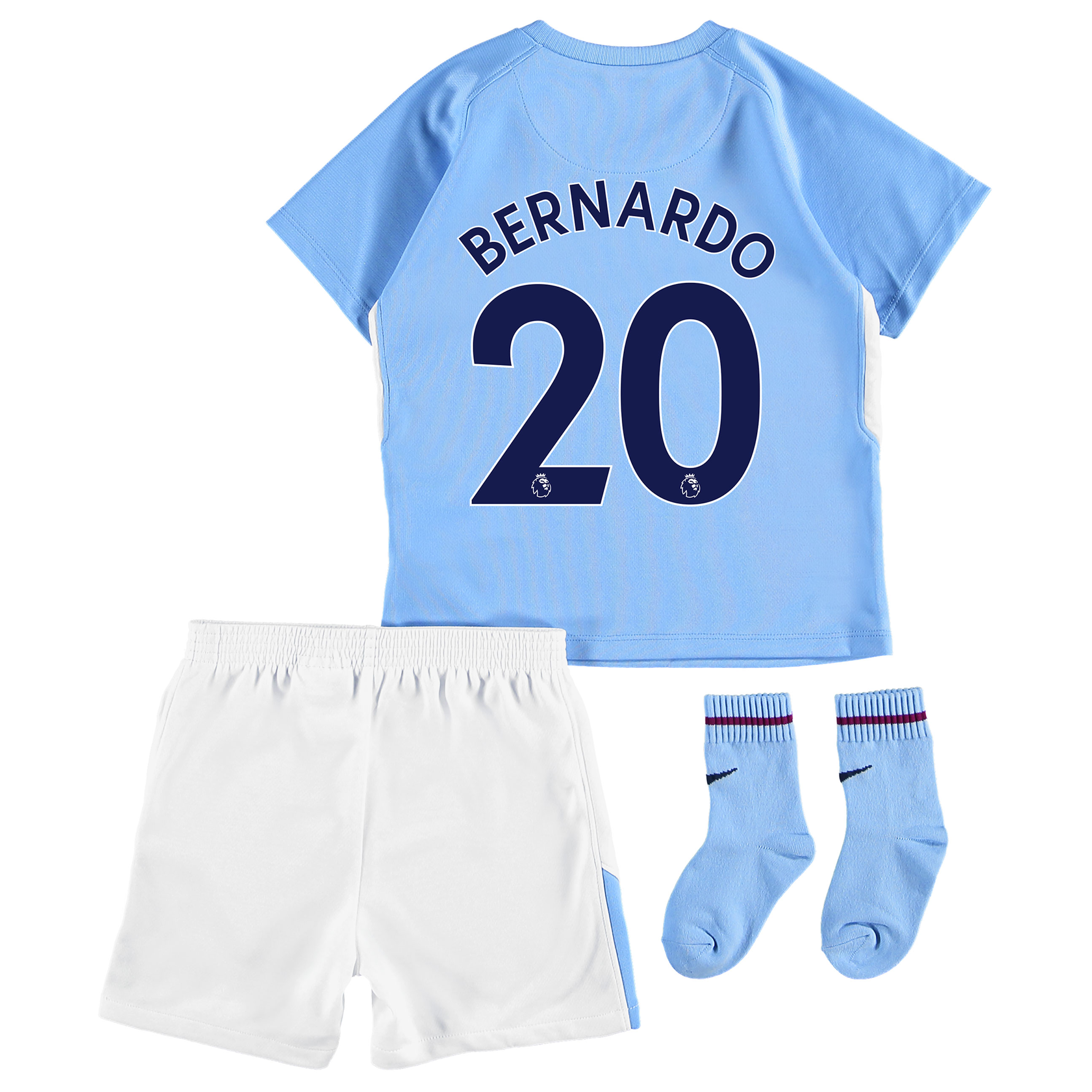 Manchester City Home Stadium Kit 2017-18 - Infants with Bernardo 20 pr