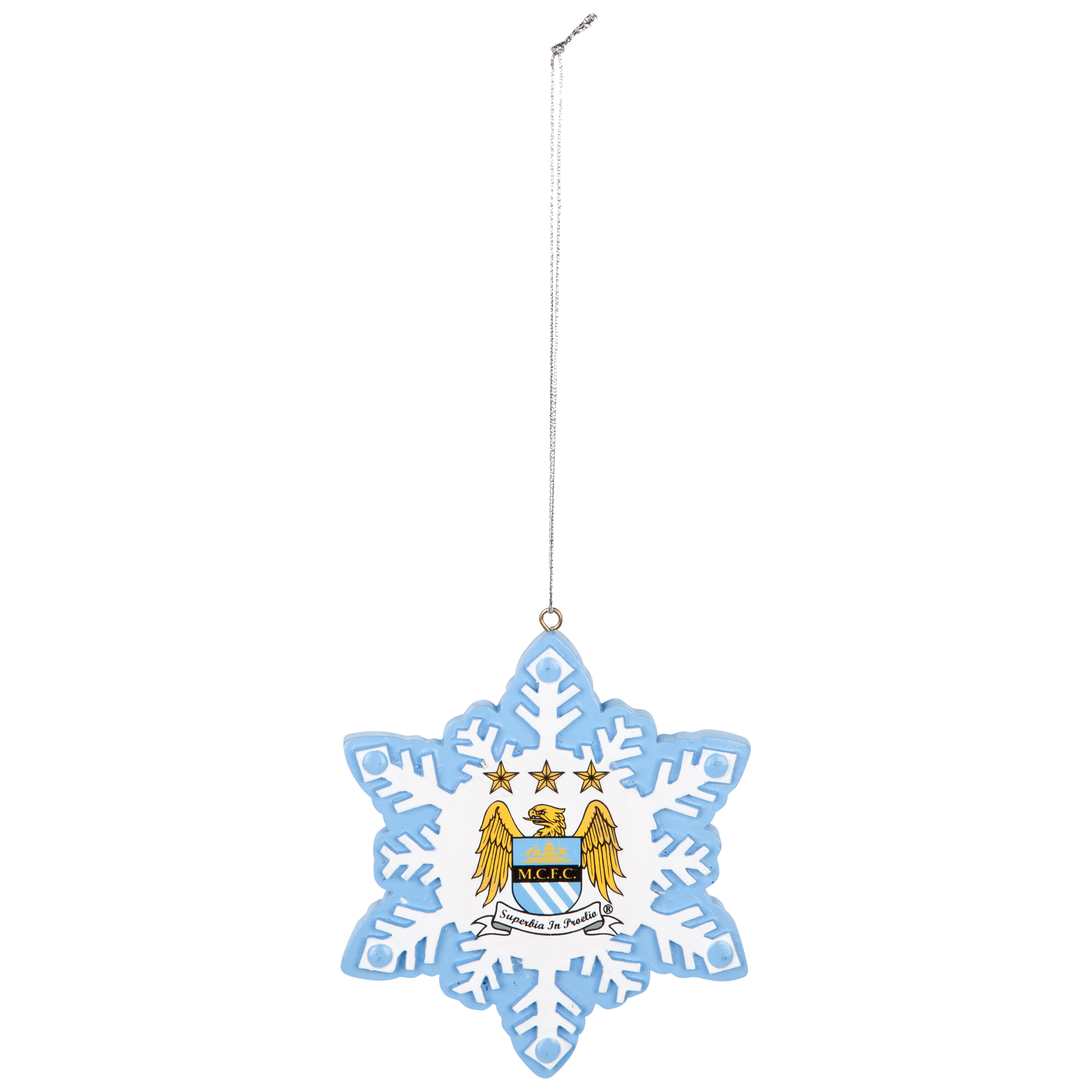 Manchester City Resin Snowflake Ornament