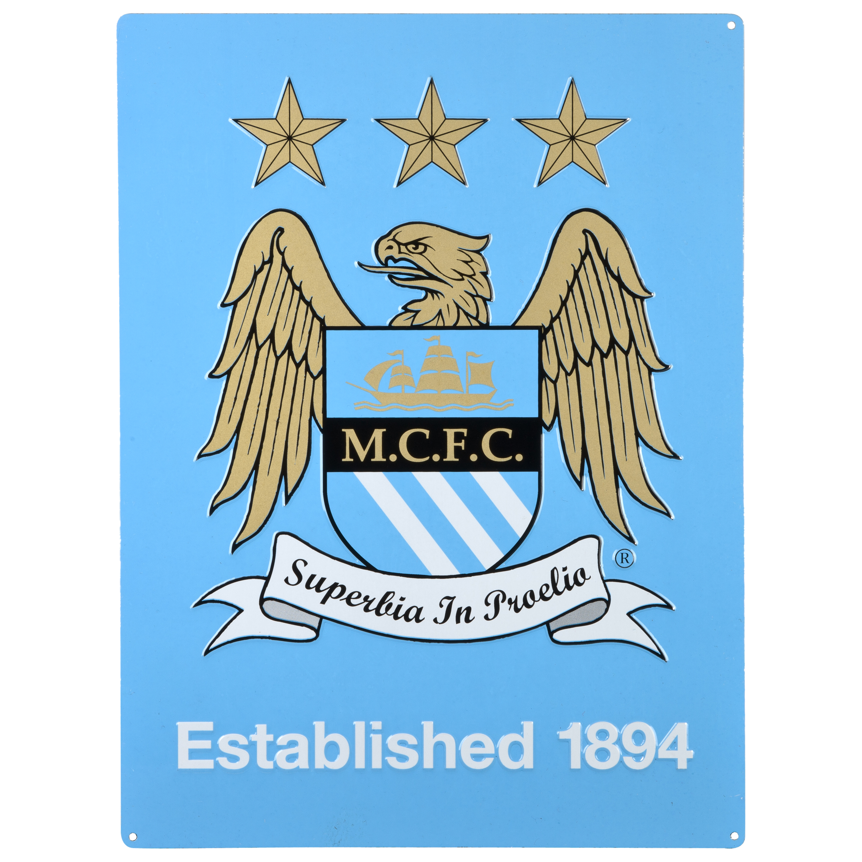 Manchester City Crest Metal Sign