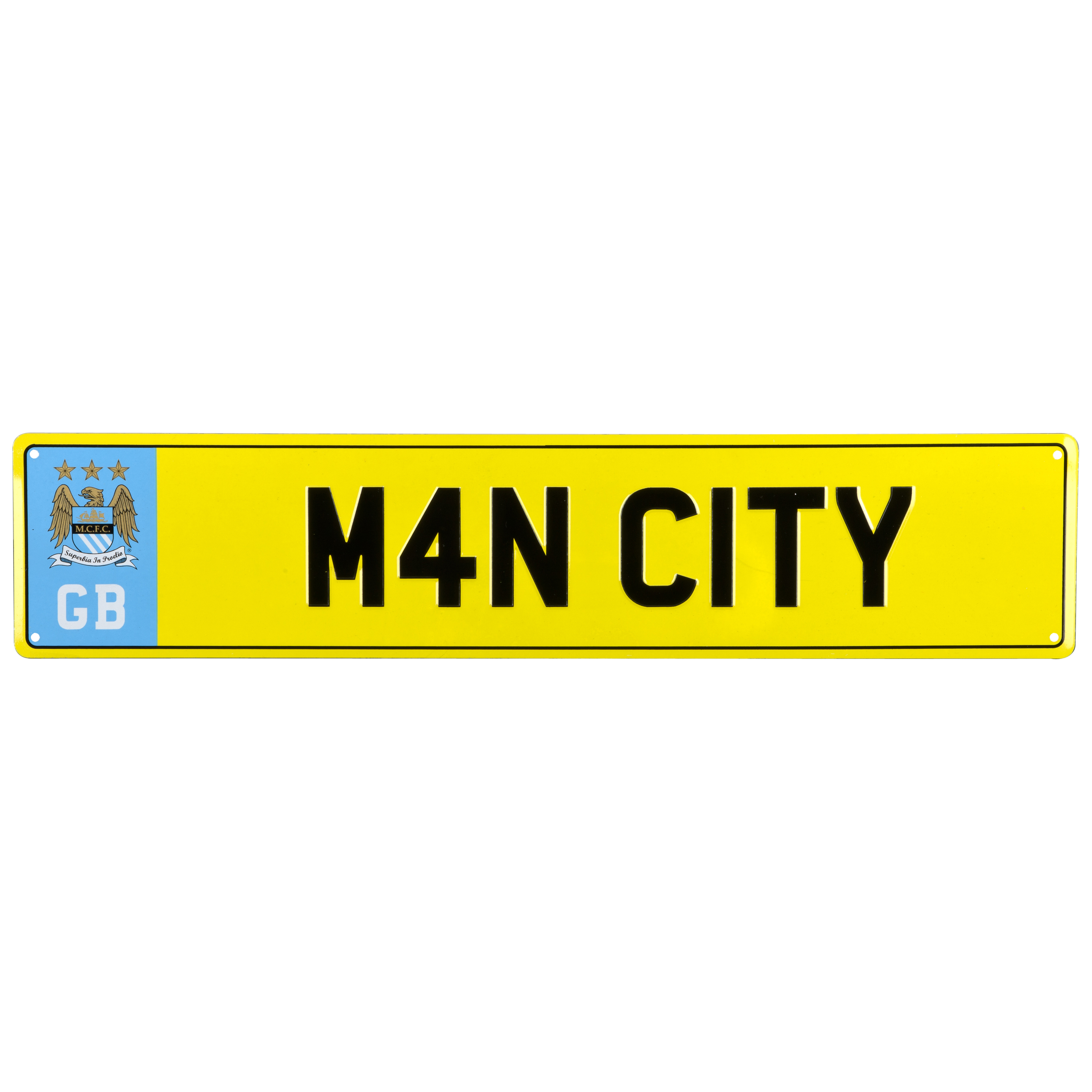 Manchester City Licensed Plate Metal Sign