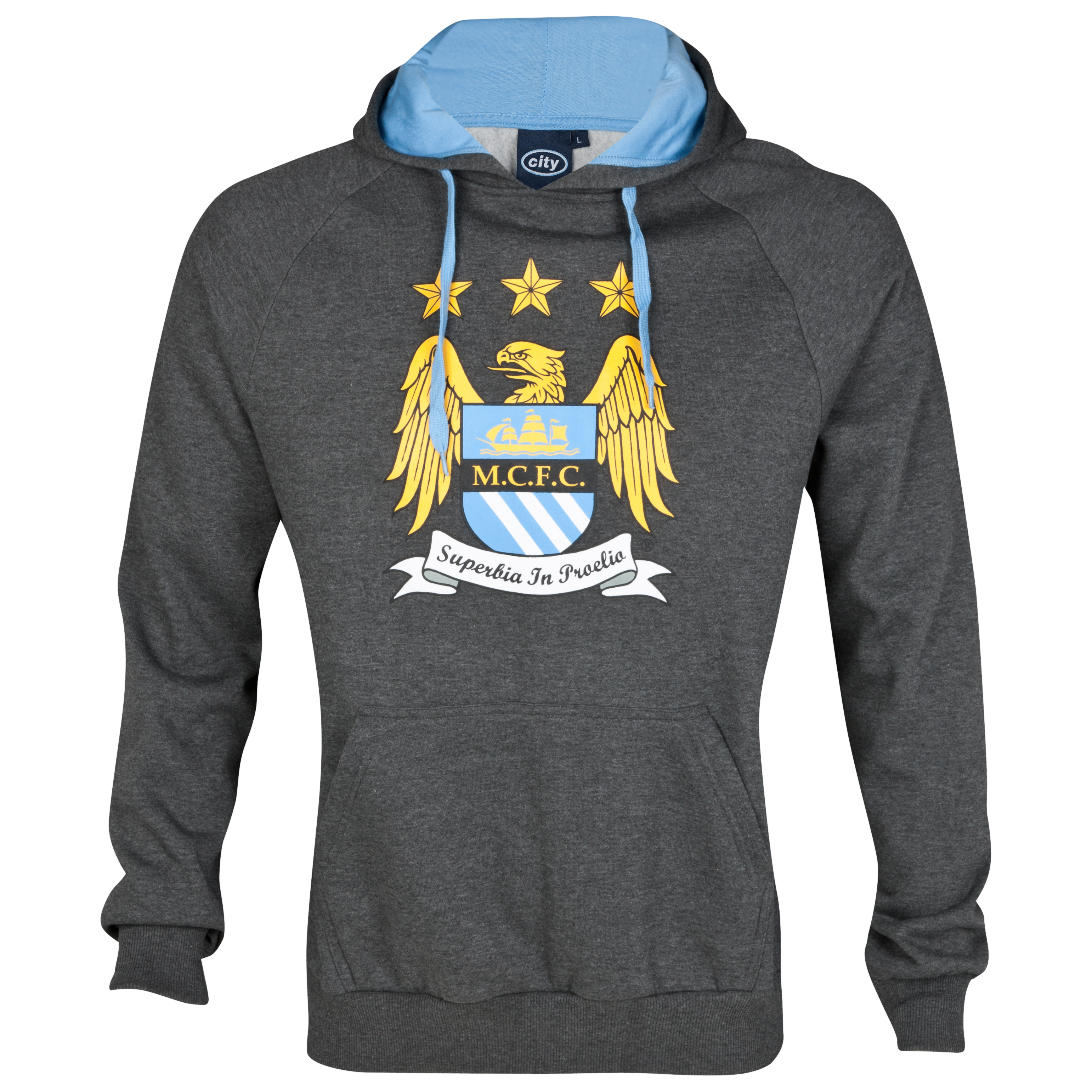 Manchester City Essential Machine Hoodie - Charcoal Marl