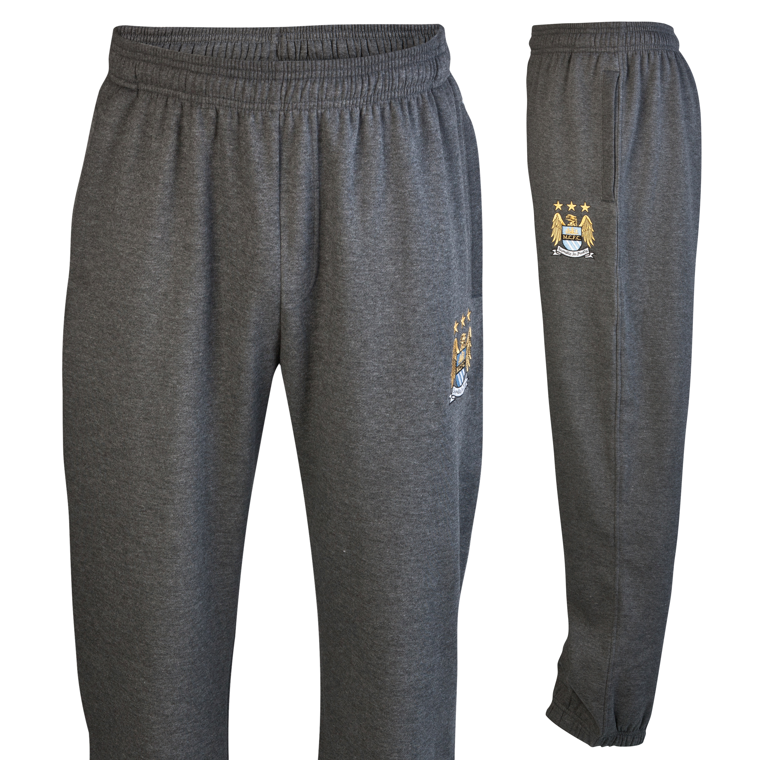 Manchester City Essential Jungle Jog Pants - Charcoal Marl