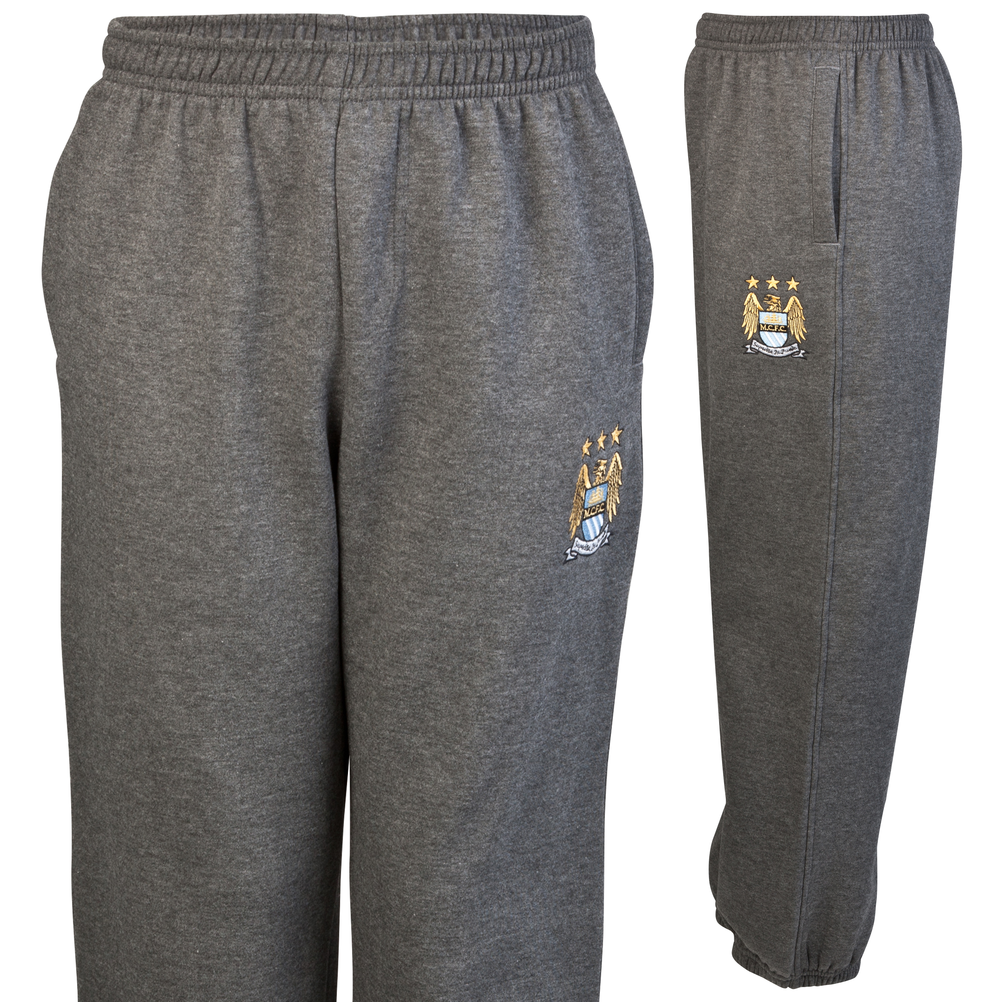 Manchester City Essential Jungle Jog Pants - Charcoal Marl - Older Boys