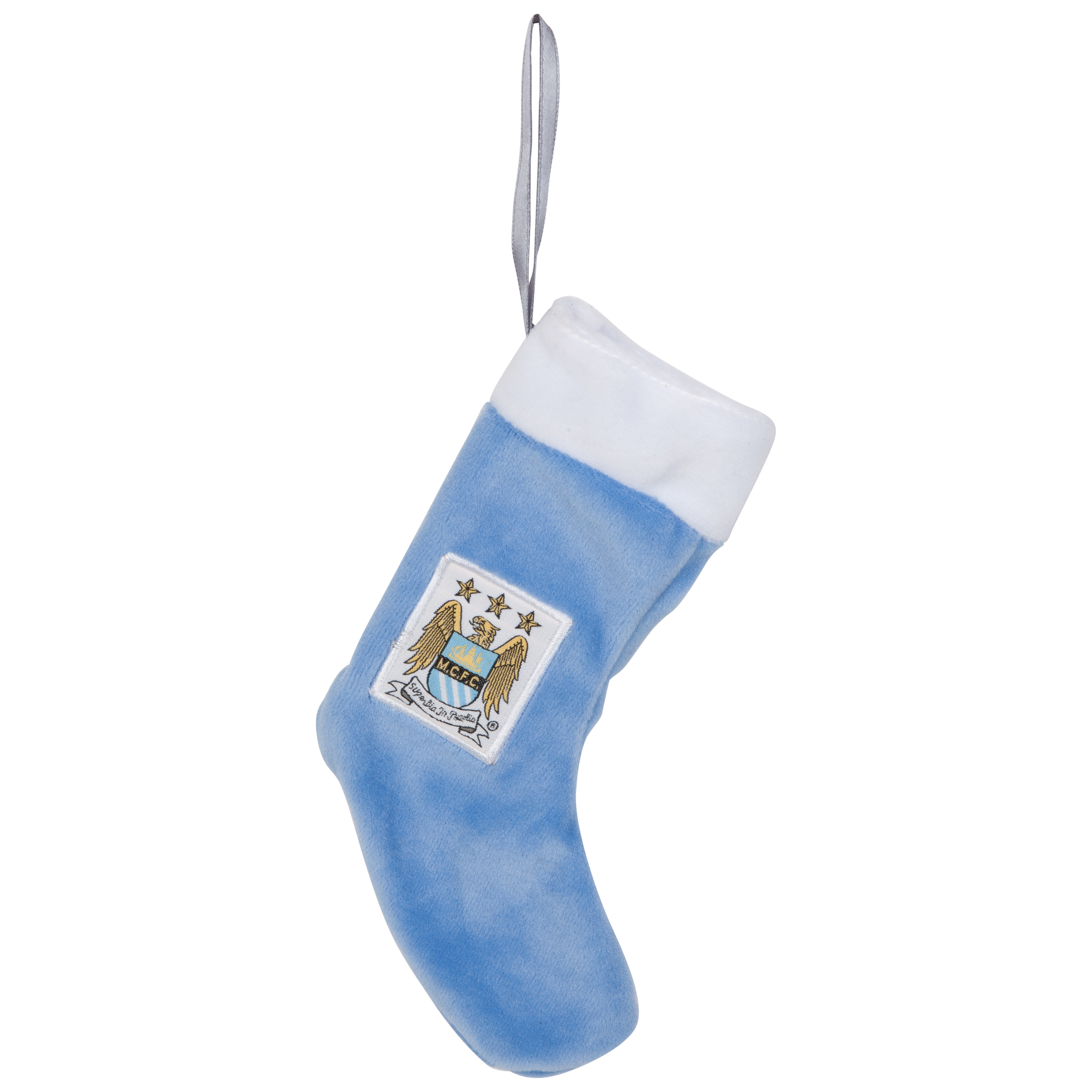 Manchester City Plush Stocking Ornament