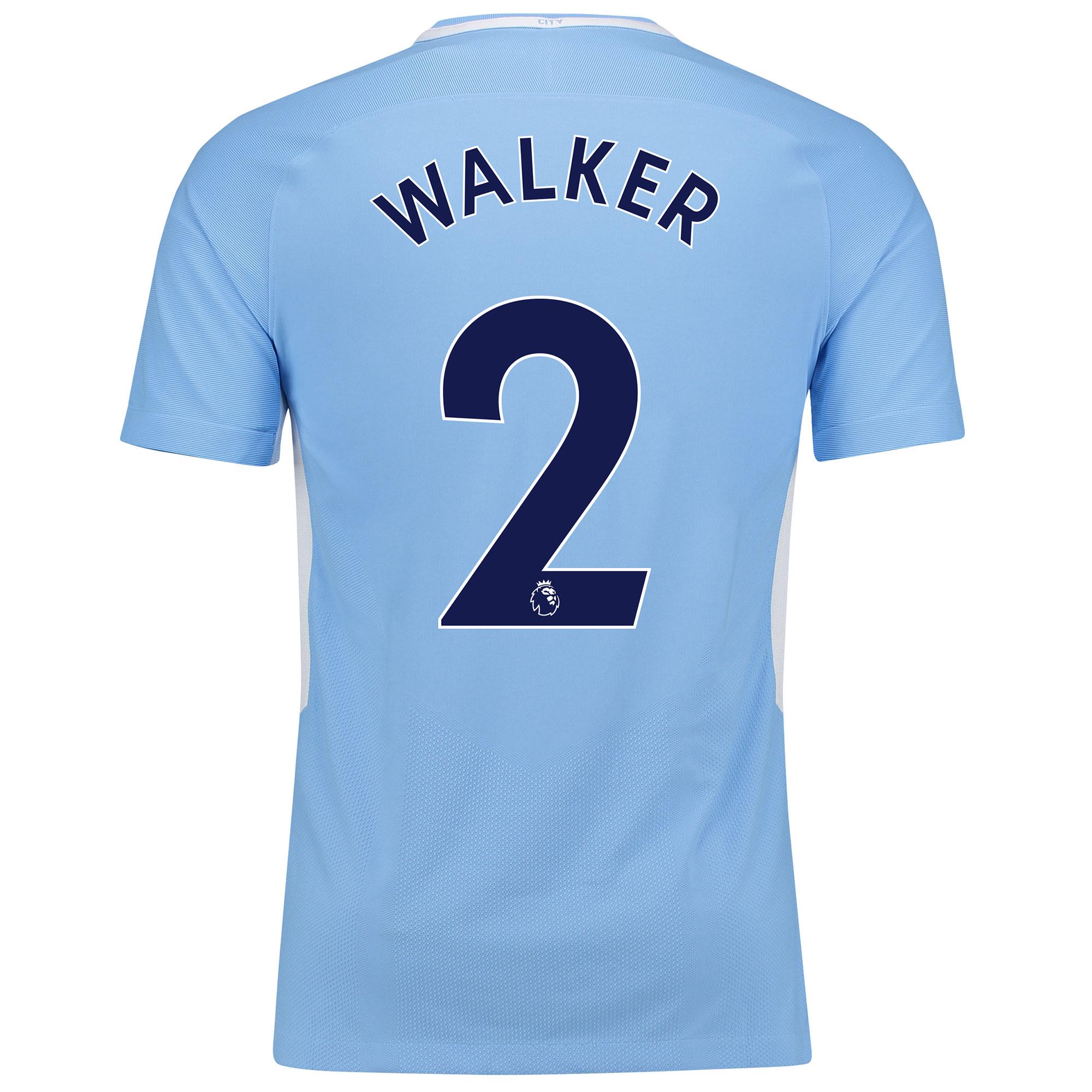 Manchester City Home Vapor Match Shirt 2017-18 with Walker 2 printing