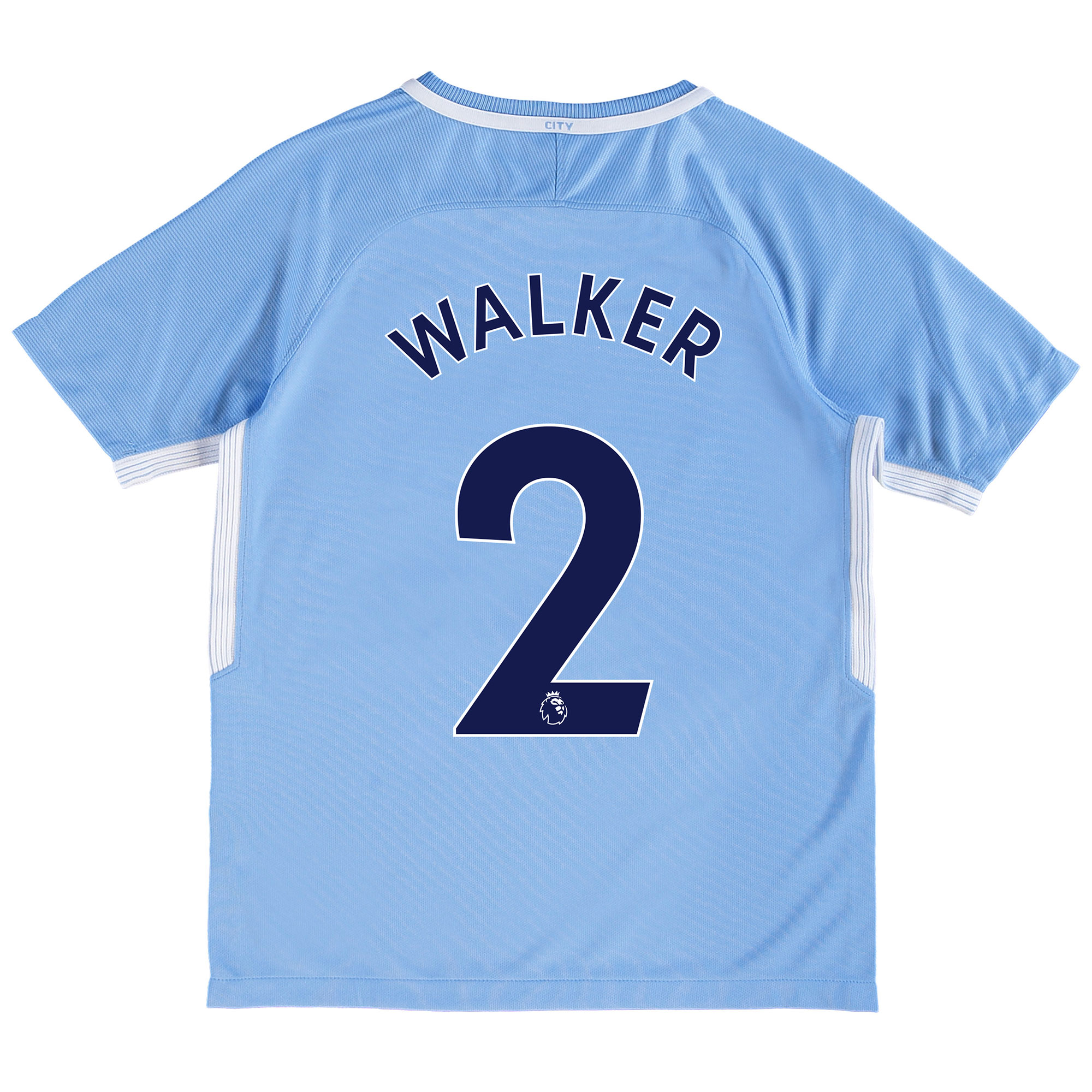 Manchester City Home Stadium Shirt 2017-18 - Kids with Walker 2 printi