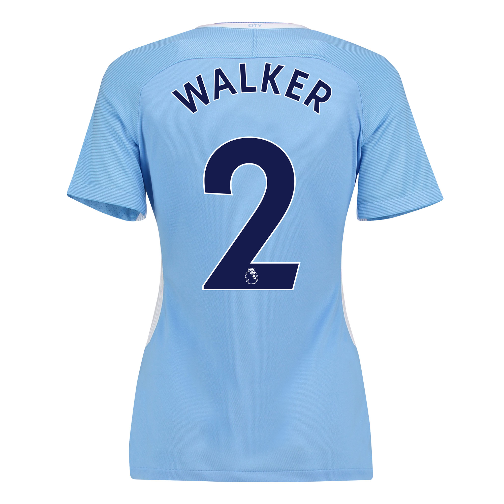 Manchester City Home Stadium Shirt 2017-18 - Womens with Walker 2 prin