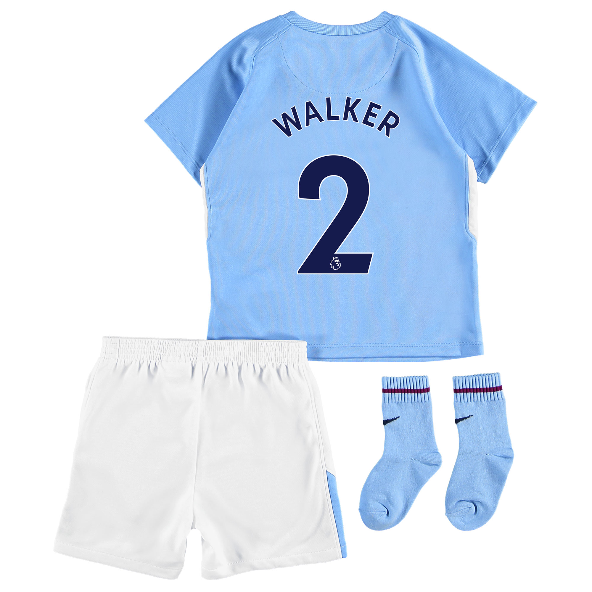 Manchester City Home Stadium Kit 2017-18 - Infants with Walker 2 print