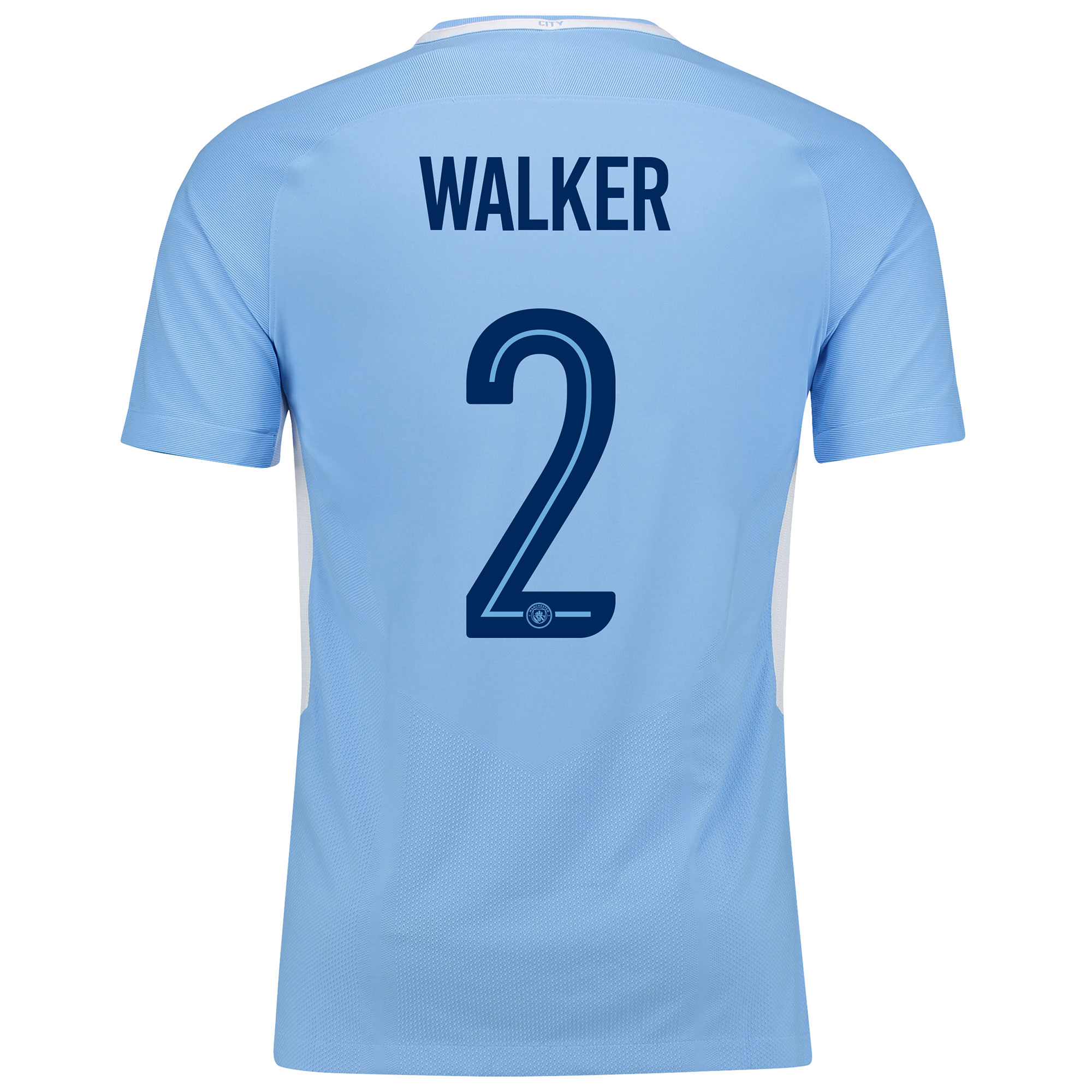 Manchester City Home Vapor Match Cup Shirt 2017-18 with Walker 2 print