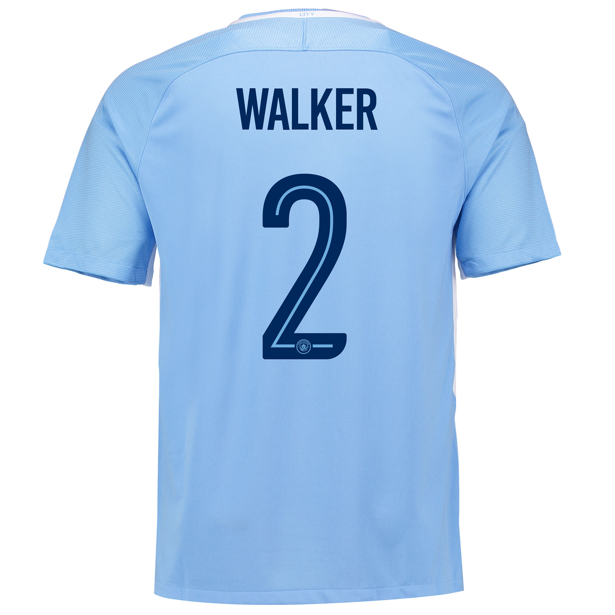 Manchester City Home Stadium Cup Shirt 2017-18 with Walker 2 printing