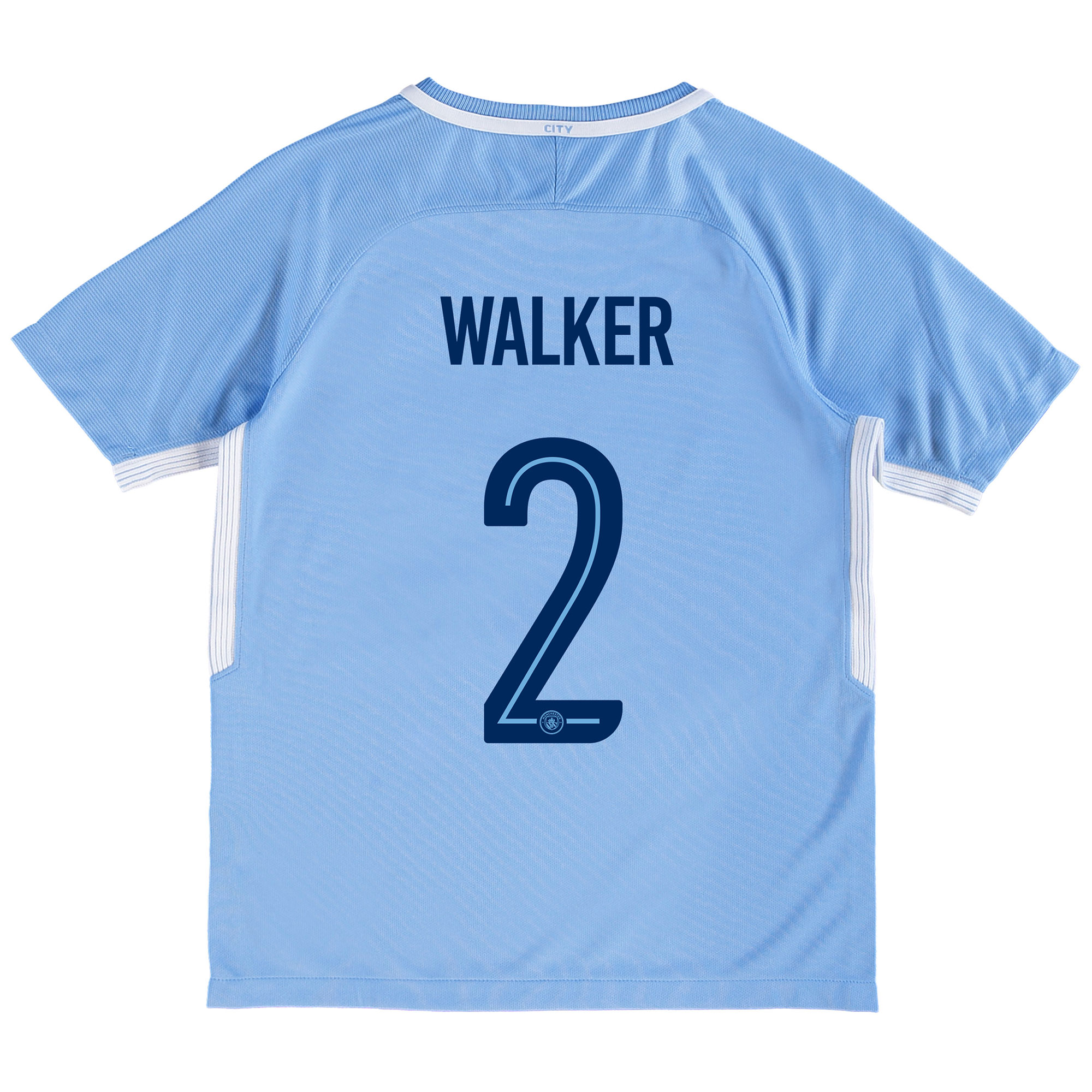 Manchester City Home Stadium Cup Shirt 2017-18 - Kids with Walker 2 pr