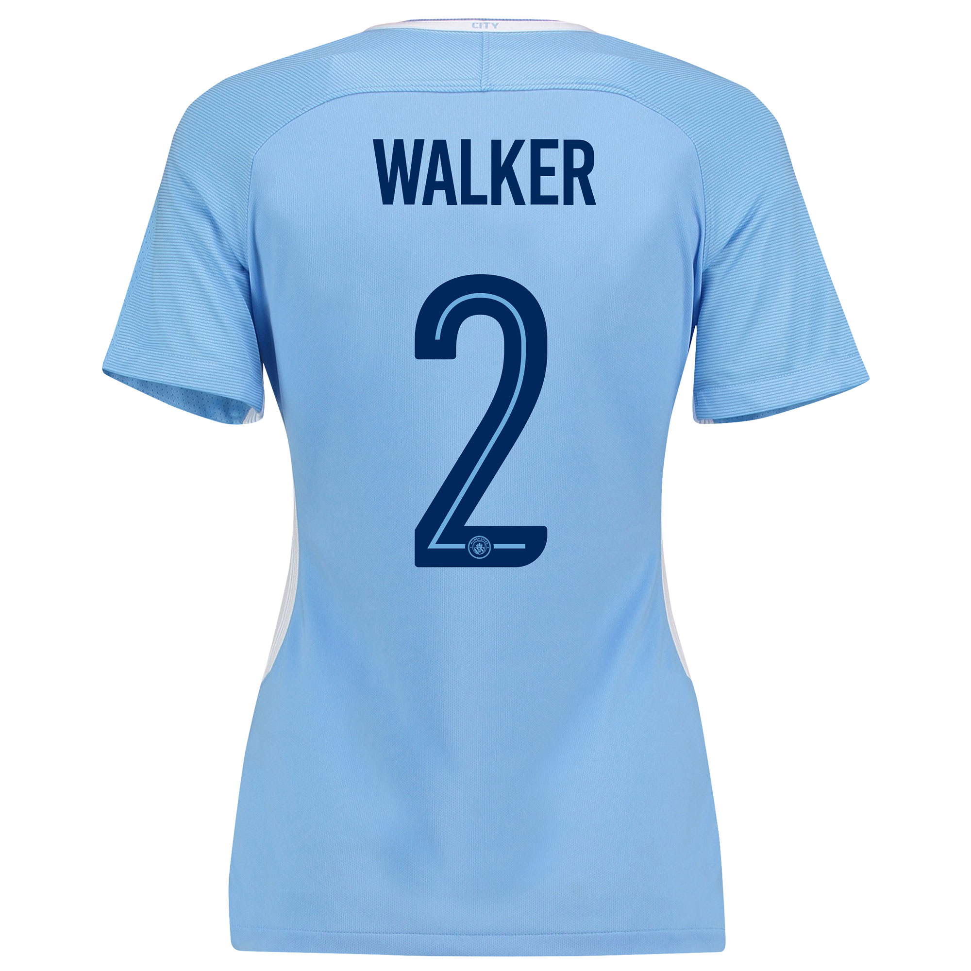Manchester City Home Stadium Cup Shirt 2017-18 - Womens with Walker 2