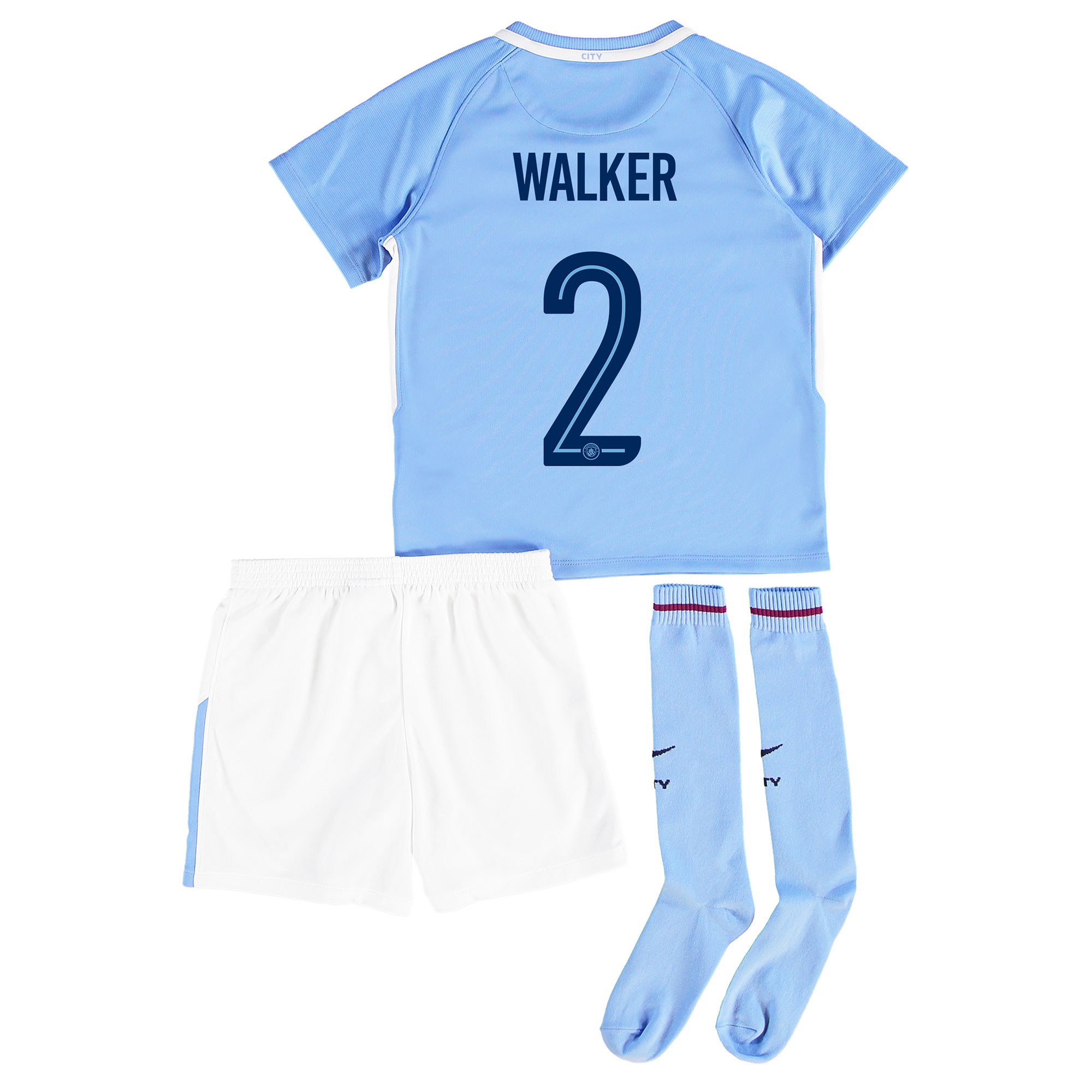 Manchester City Home Stadium Cup Kit 2017-18 - Little Kids with Walker