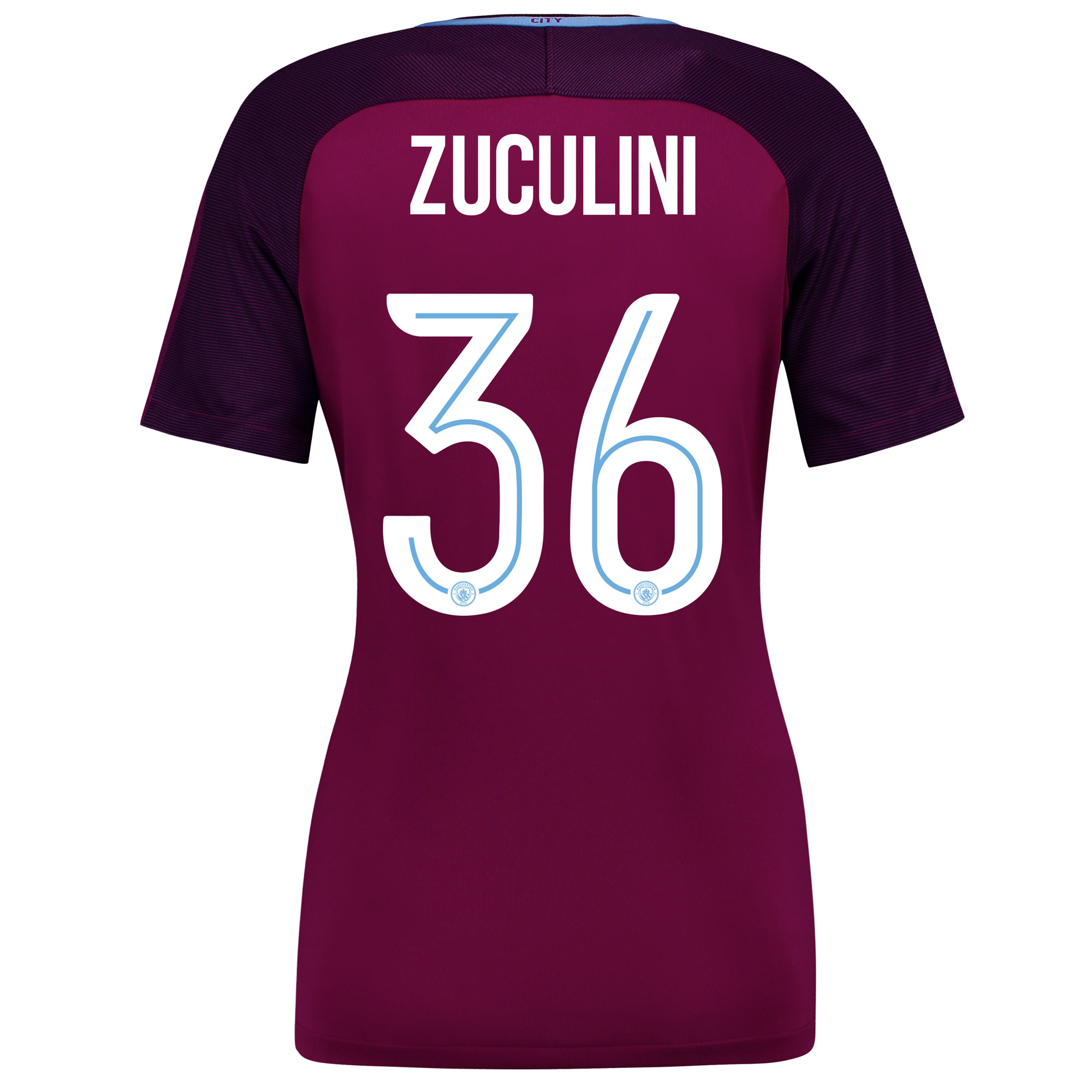 Manchester City Away Stadium Cup Shirt 2017-18 - Womens with Zuculini