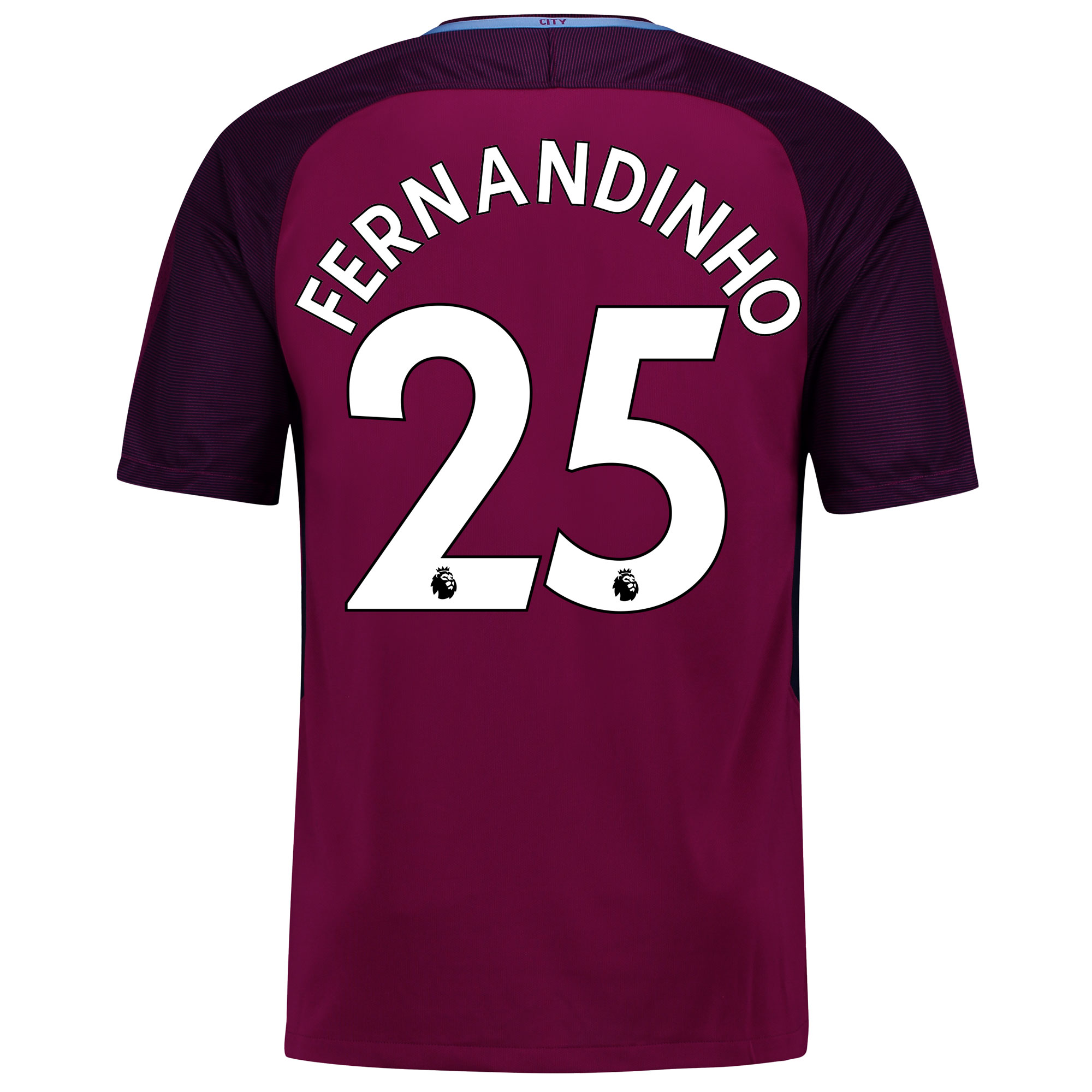 Manchester City Away Stadium Shirt 2017-18 - Kids with Fernandinho 25
