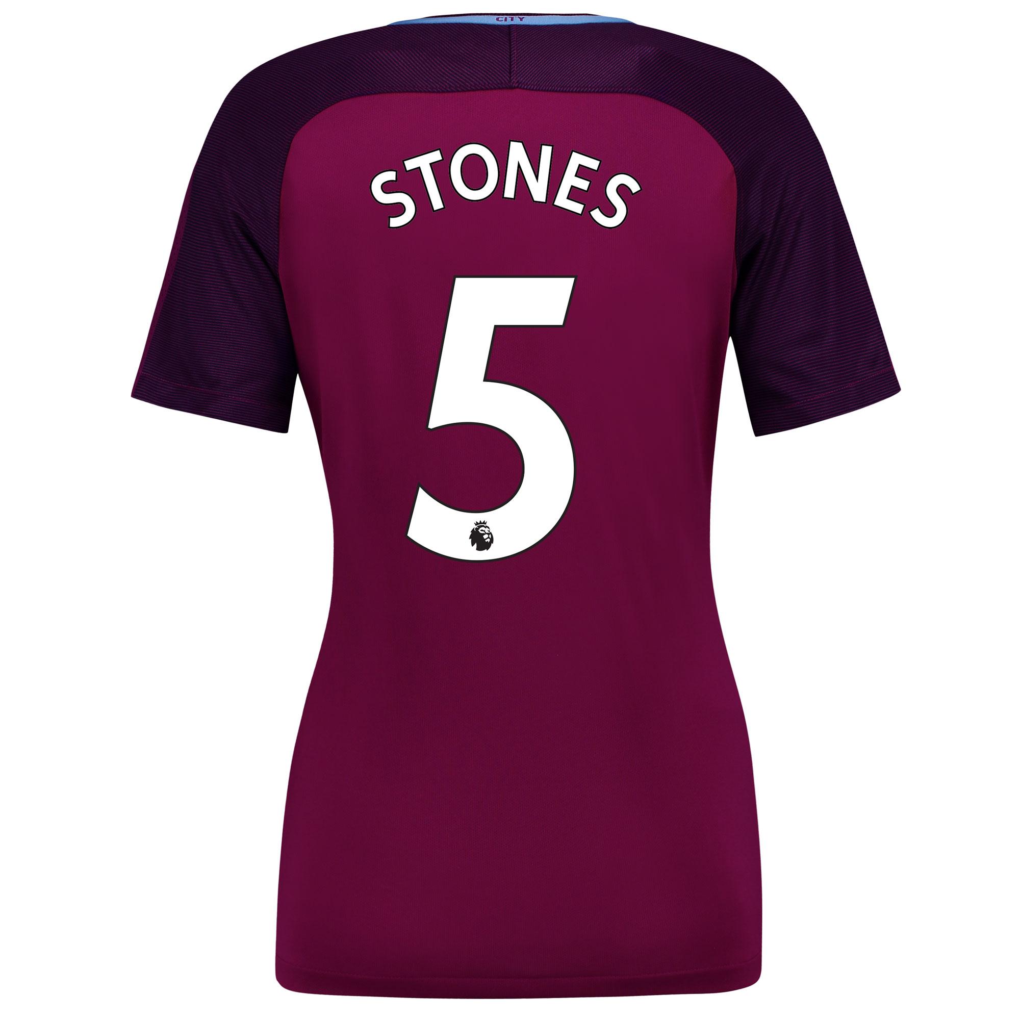 Manchester City Away Stadium Shirt 2017-18 - Womens with Stones 5 prin