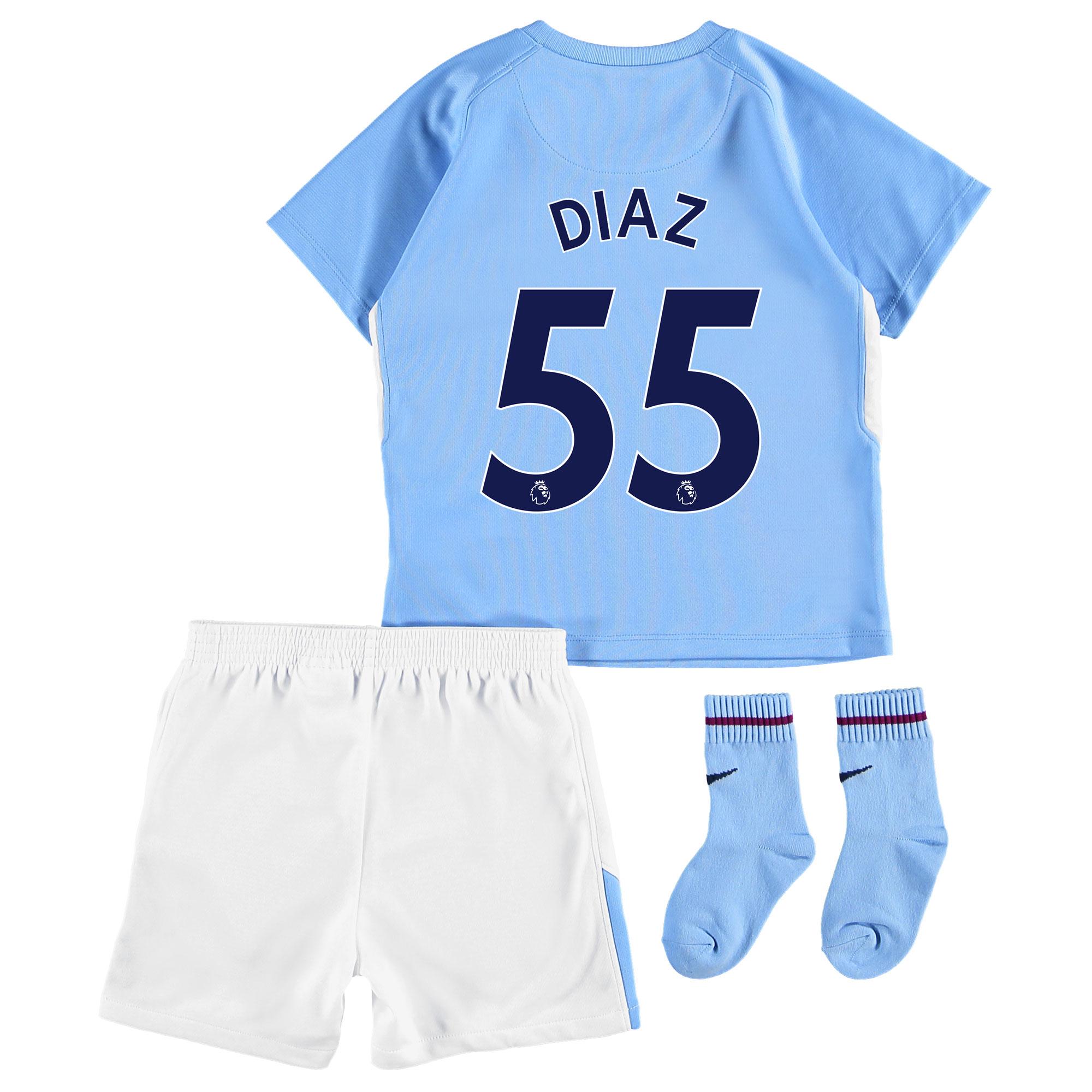 Manchester City Home Stadium Kit 2017-18 - Infants with Diaz 55 printi