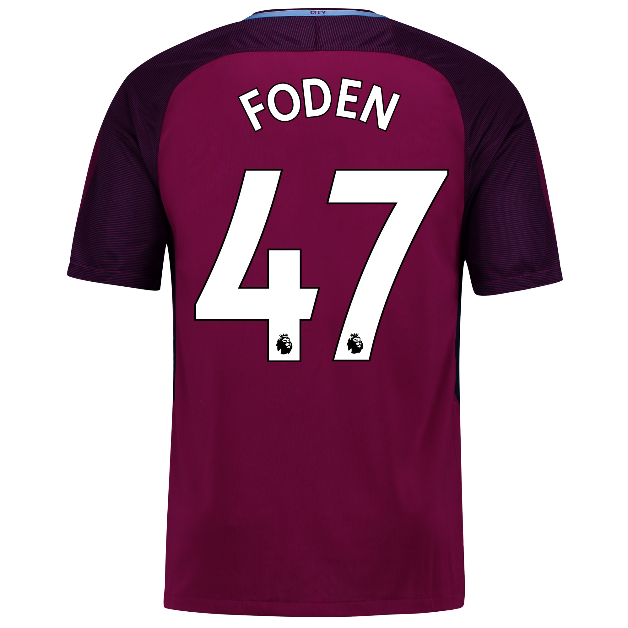 Manchester City Away Stadium Shirt 2017-18 with Foden 47 printing