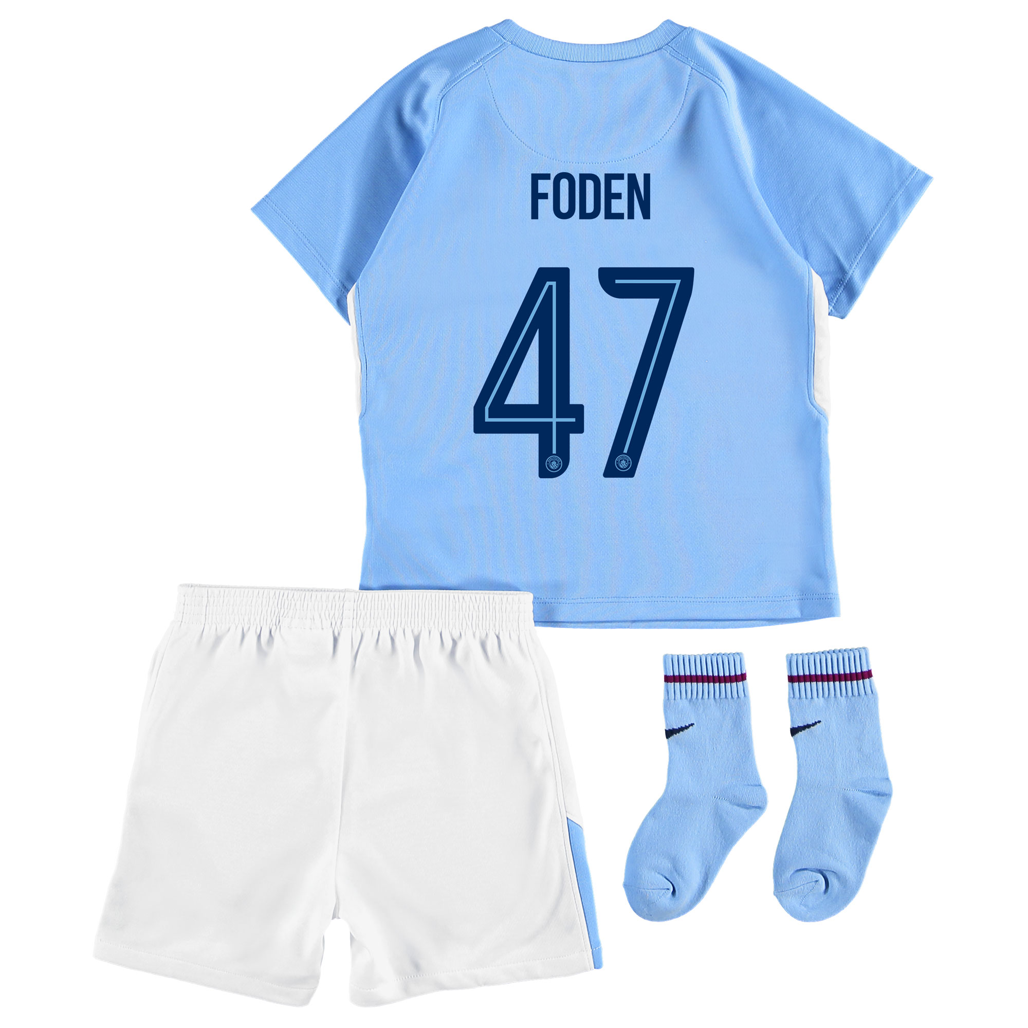Manchester City Home Stadium Cup Kit 2017-18 - Infants with Foden 47 p