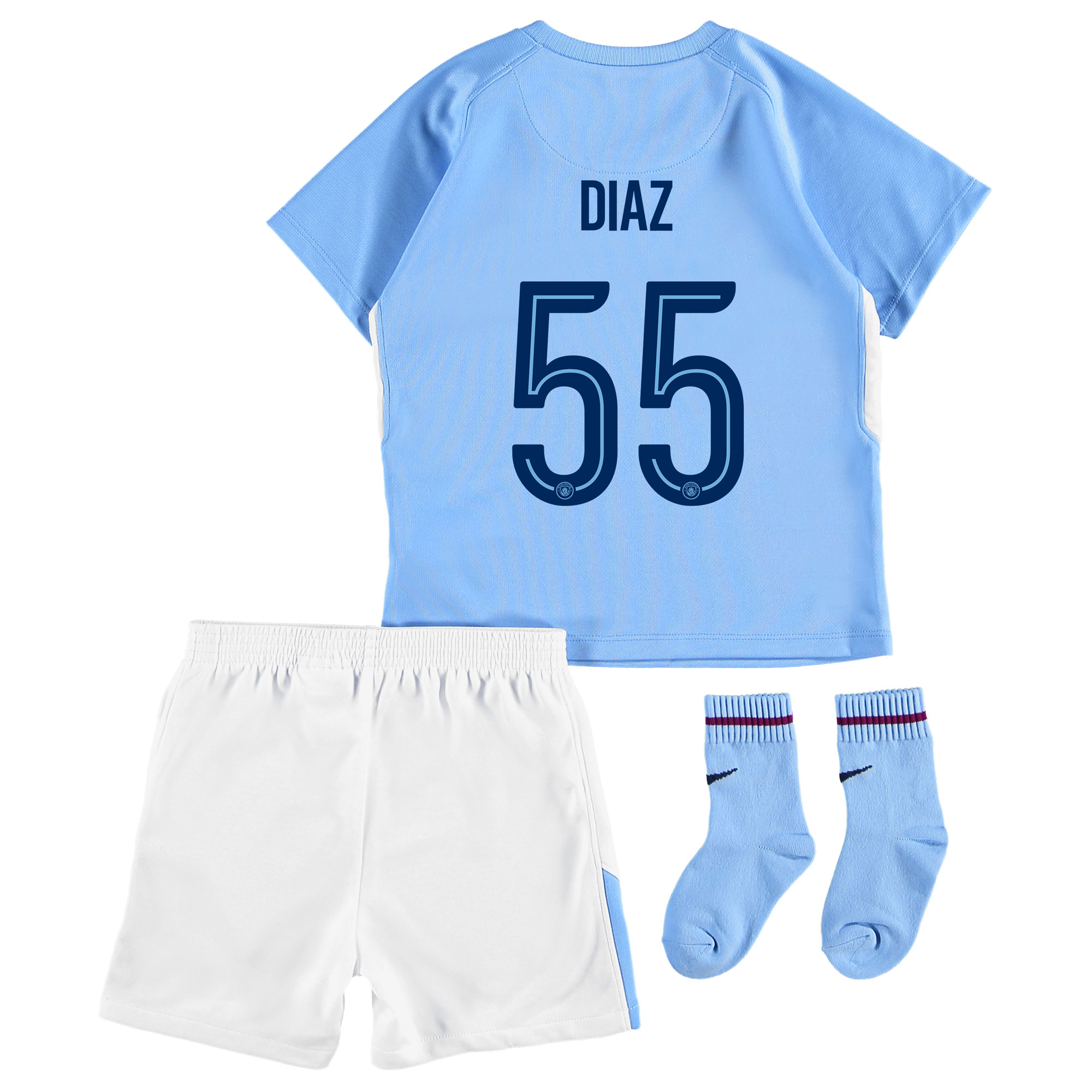 Manchester City Home Stadium Cup Kit 2017-18 - Infants with Diaz 55 pr