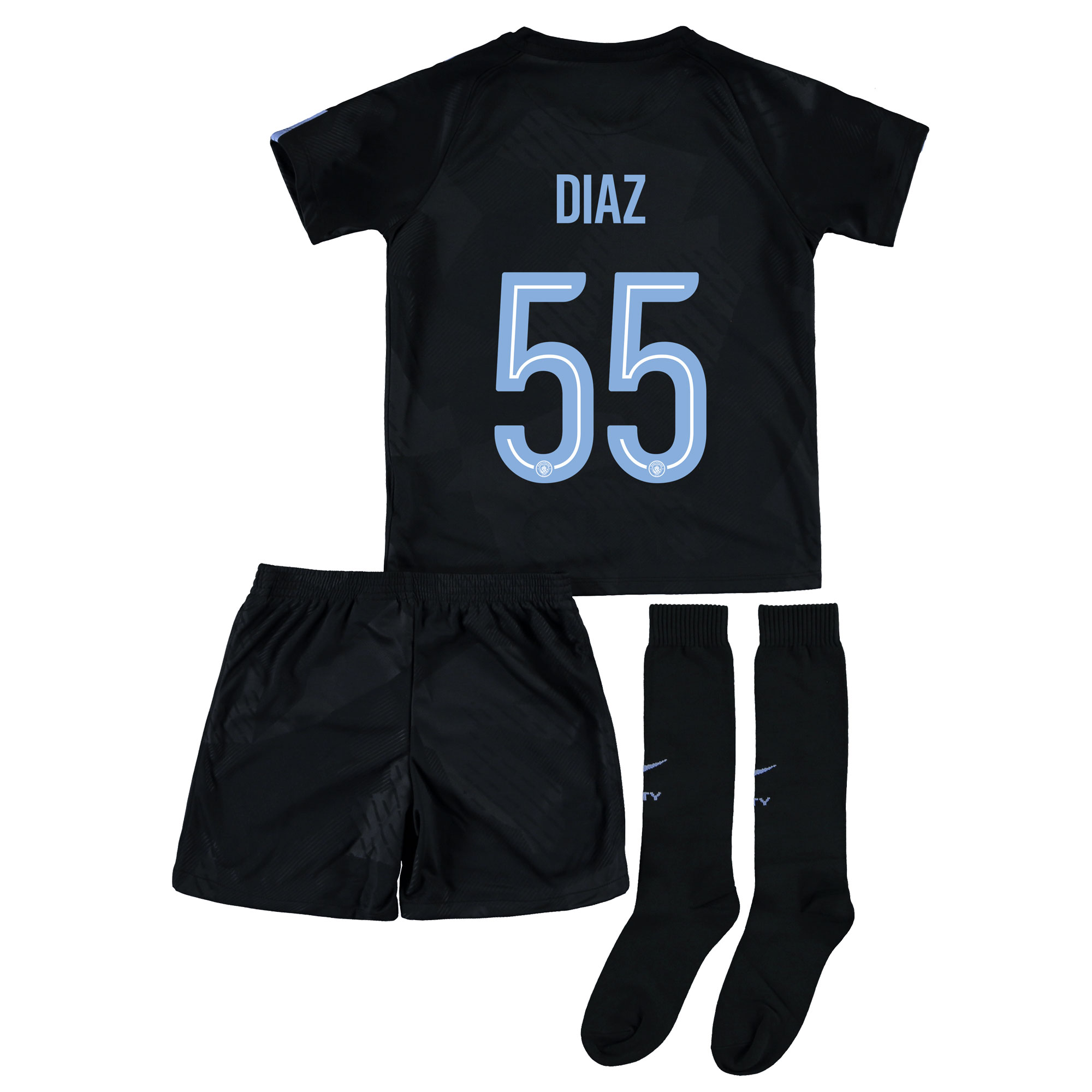 Manchester City Third Stadium Cup Kit 2017-18 - Little Kids with Diaz