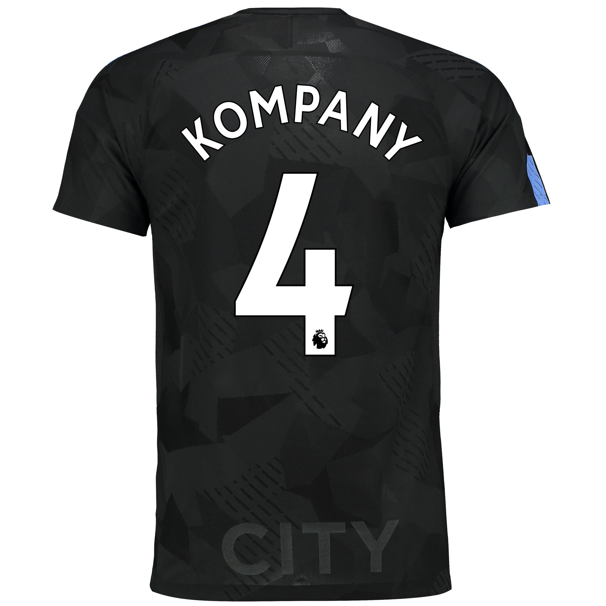 Manchester City Third Vapor Match Shirt 2017-18 with Kompany 4 printin