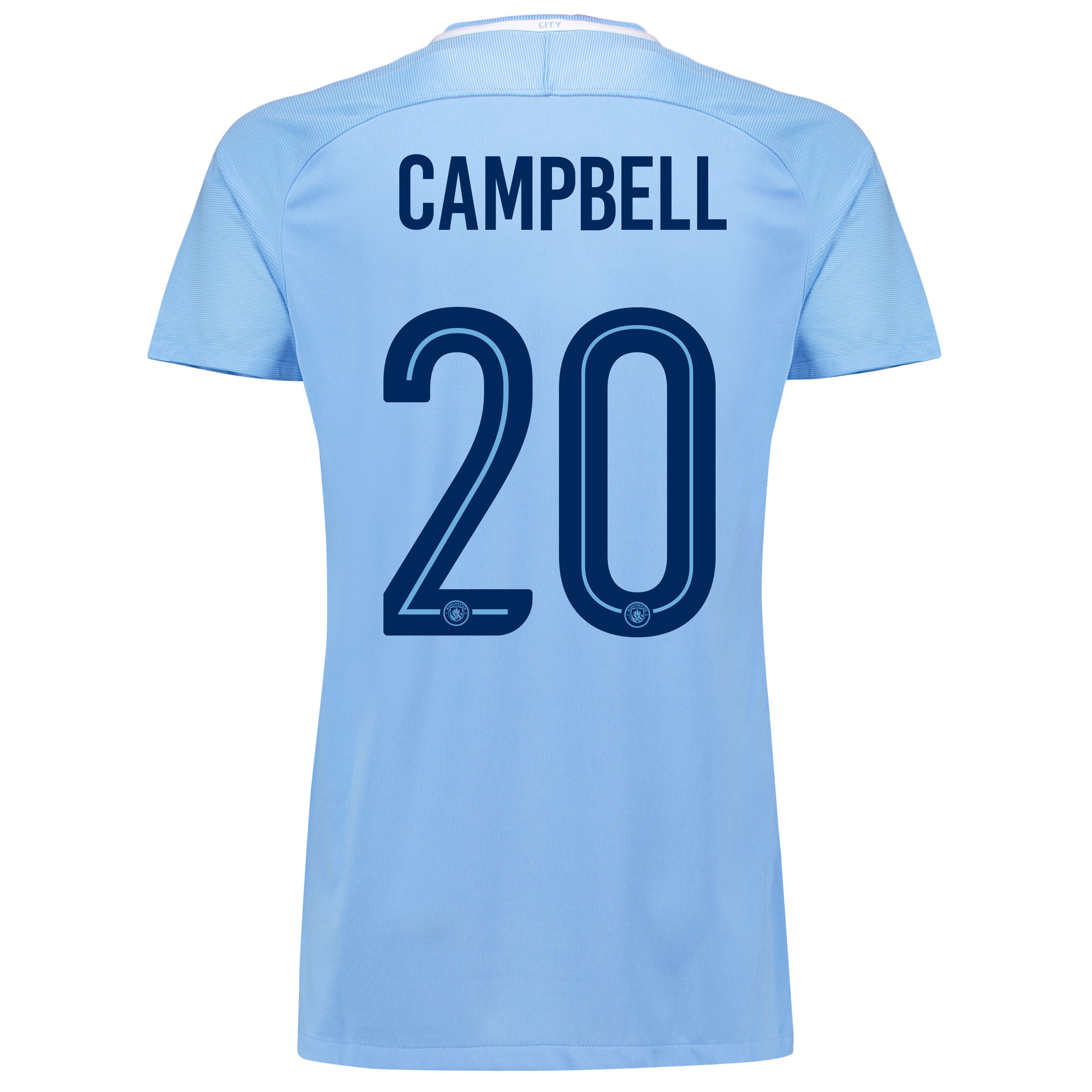 Manchester City Home Stadium Cup Shirt 2017-18 - Womens with Campbell