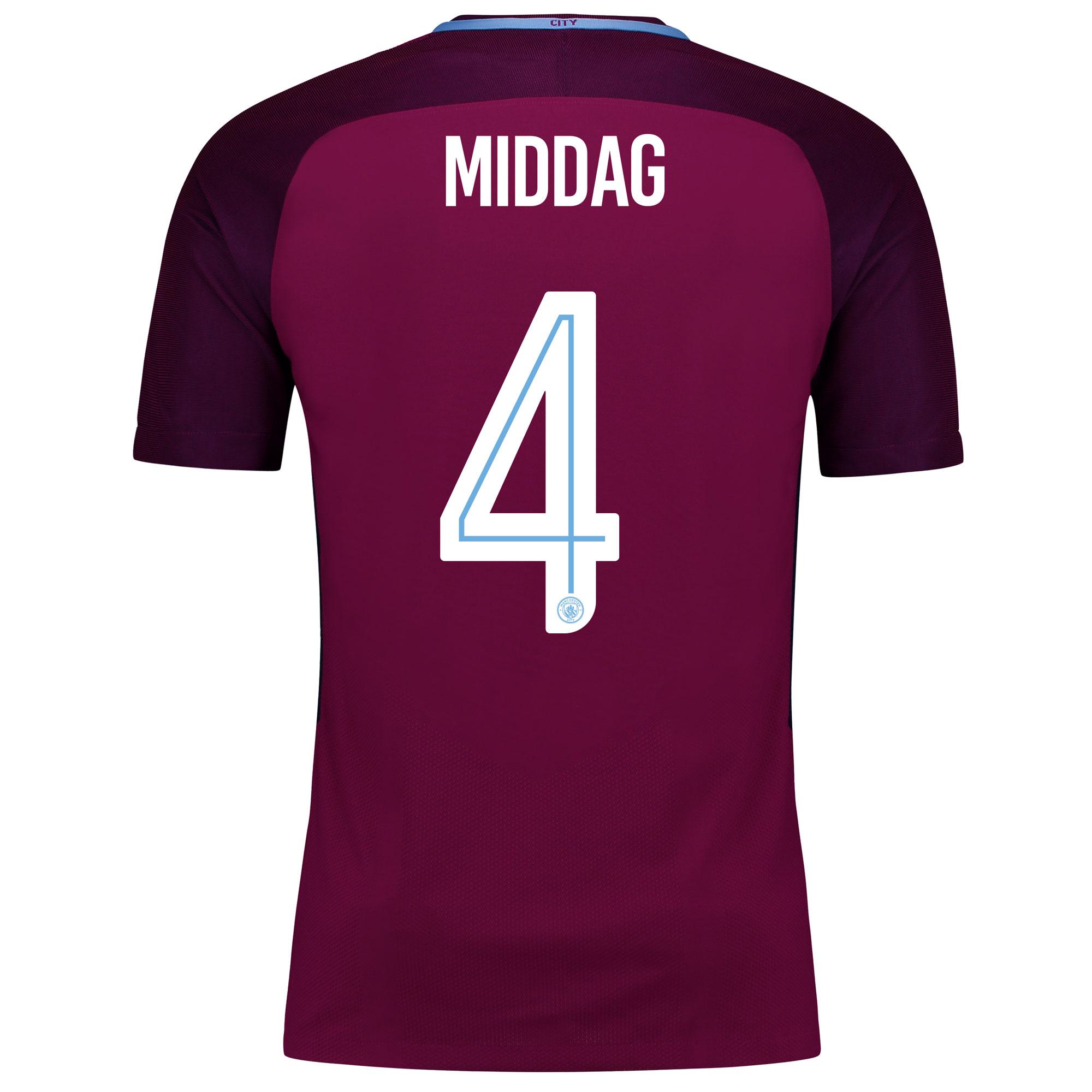 Manchester City Away Vapor Match Cup Shirt 2017-18 with Middag 4 print
