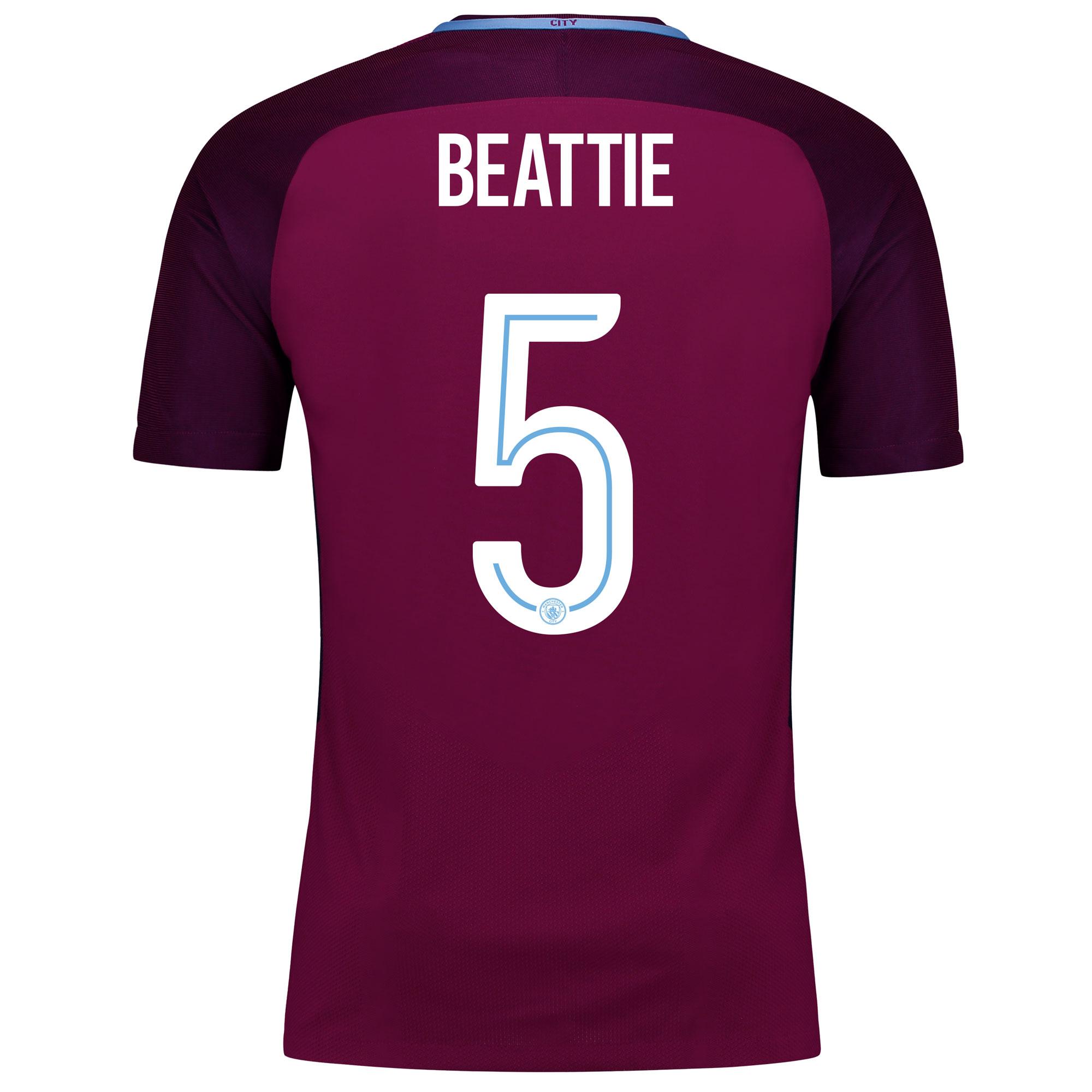 Manchester City Away Vapor Match Cup Shirt 2017-18 with Beattie 5 prin