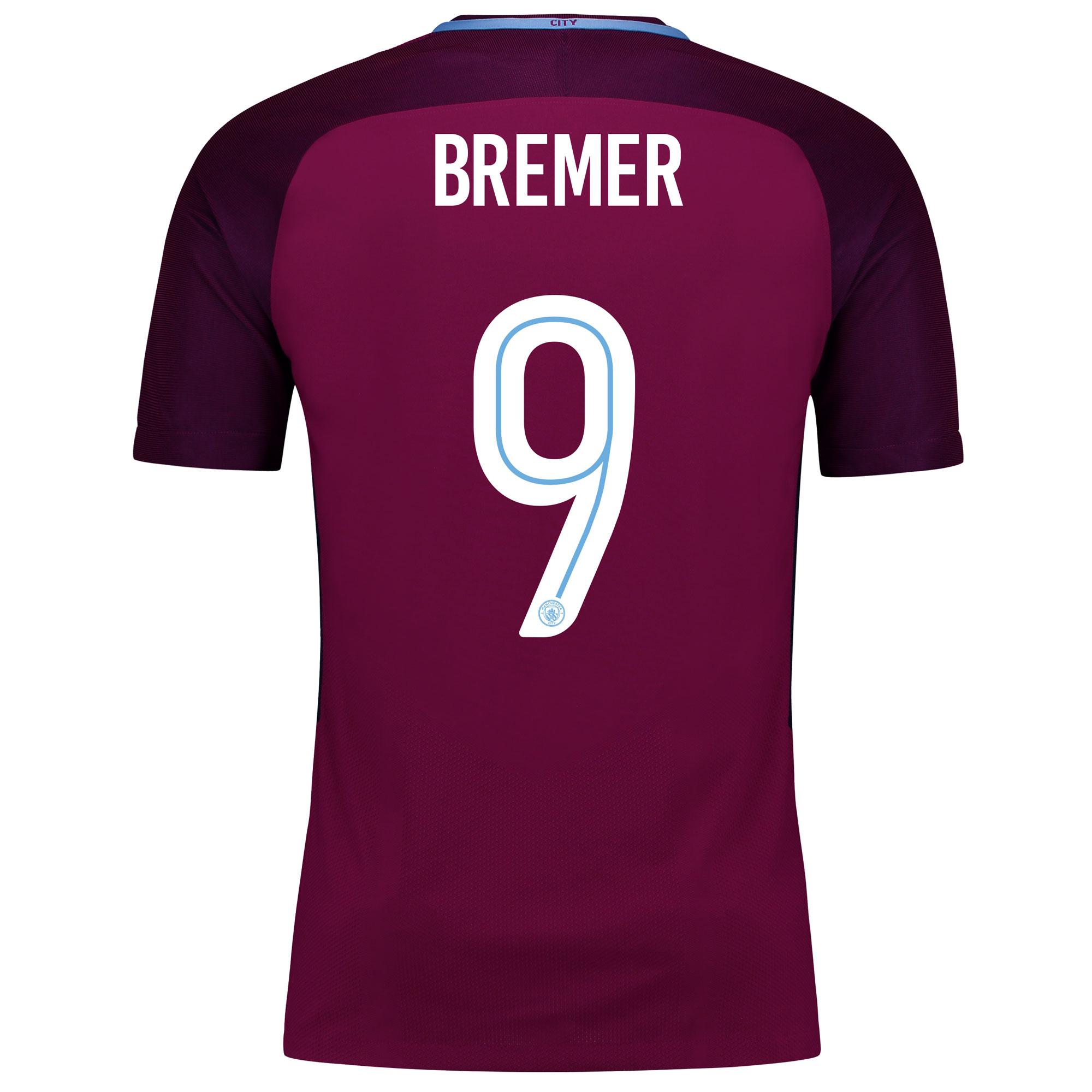 Manchester City Away Vapor Match Cup Shirt 2017-18 with Bremer 9 print
