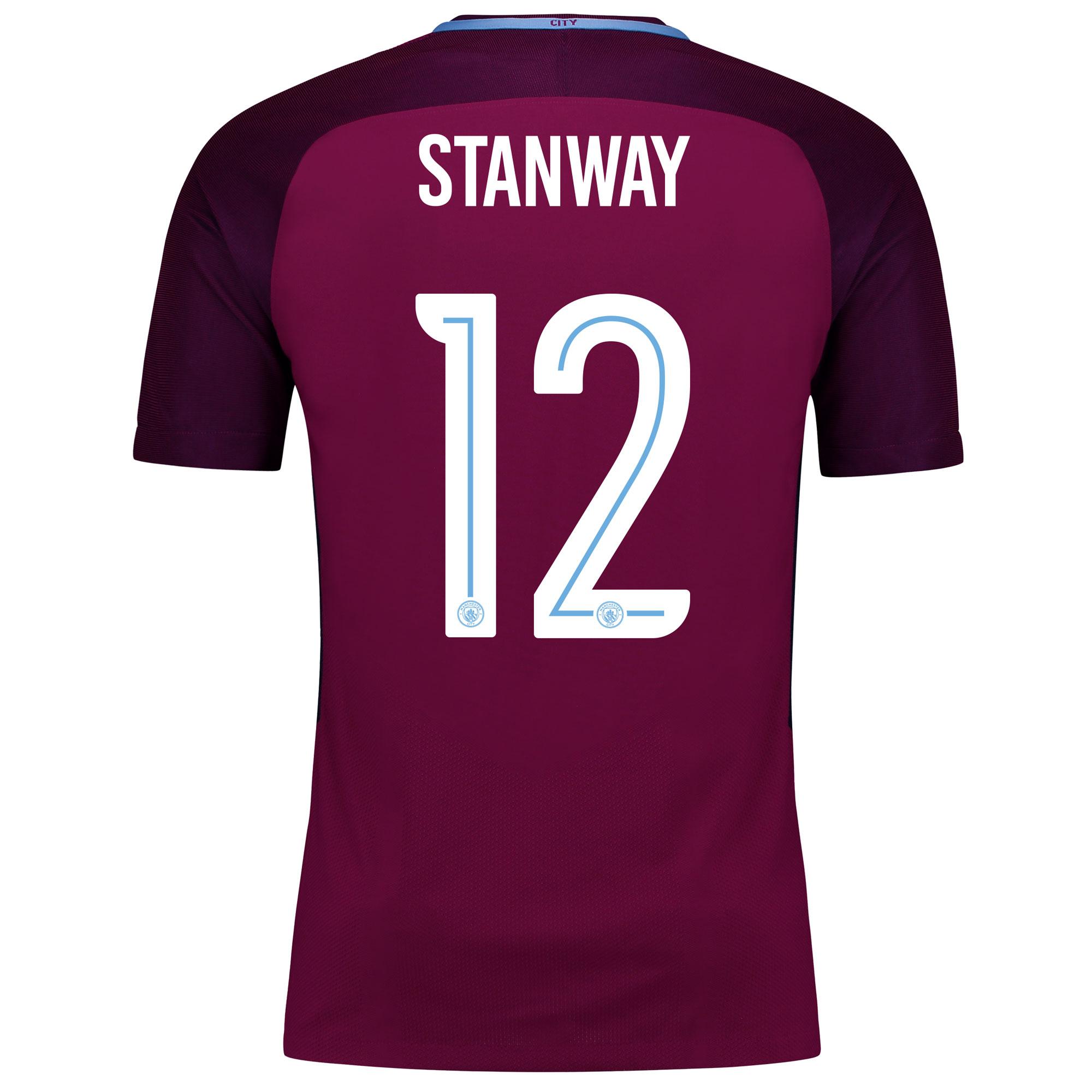 Manchester City Away Vapor Match Cup Shirt 2017-18 with Stanway 12 pri