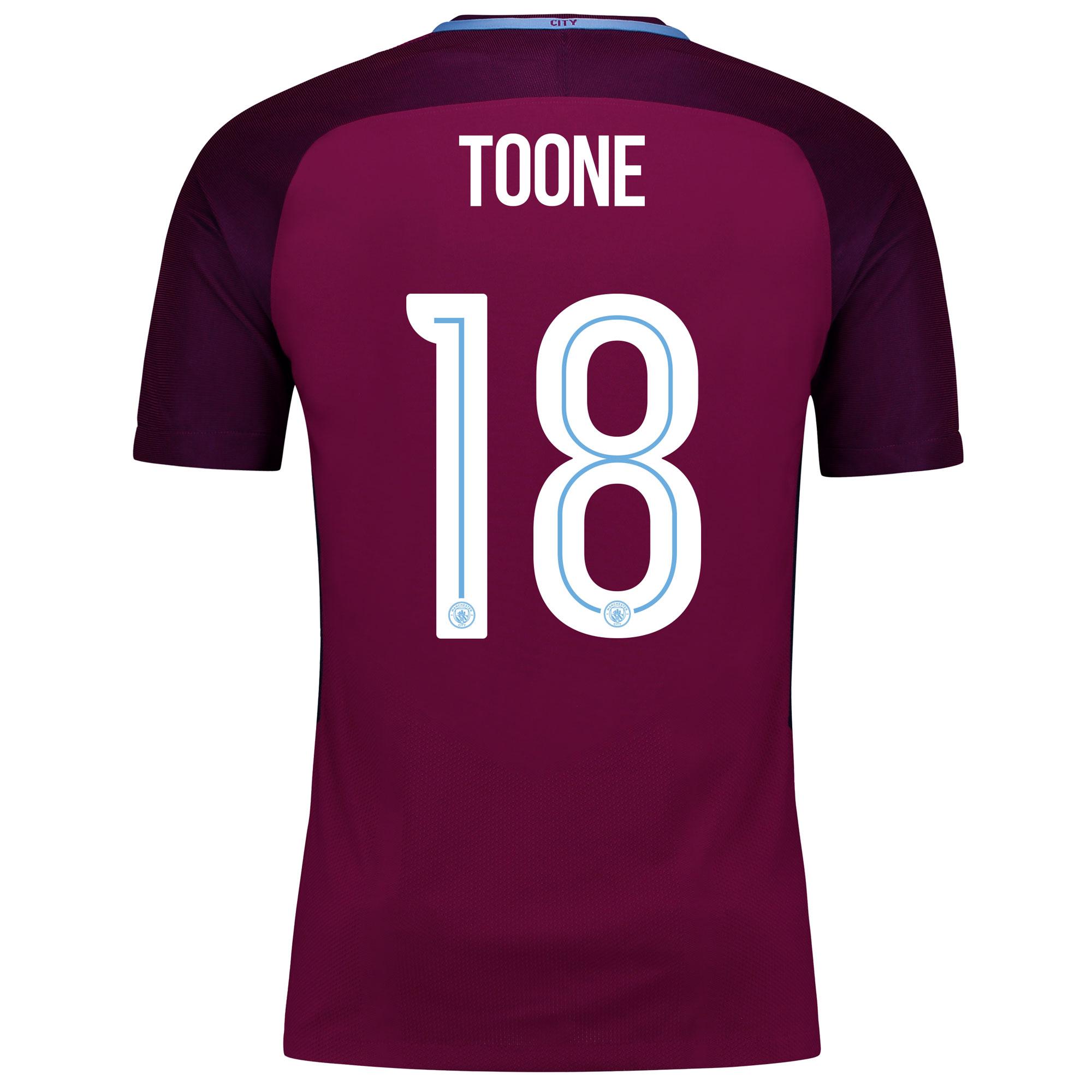 Manchester City Away Vapor Match Cup Shirt 2017-18 with Toone 18 print