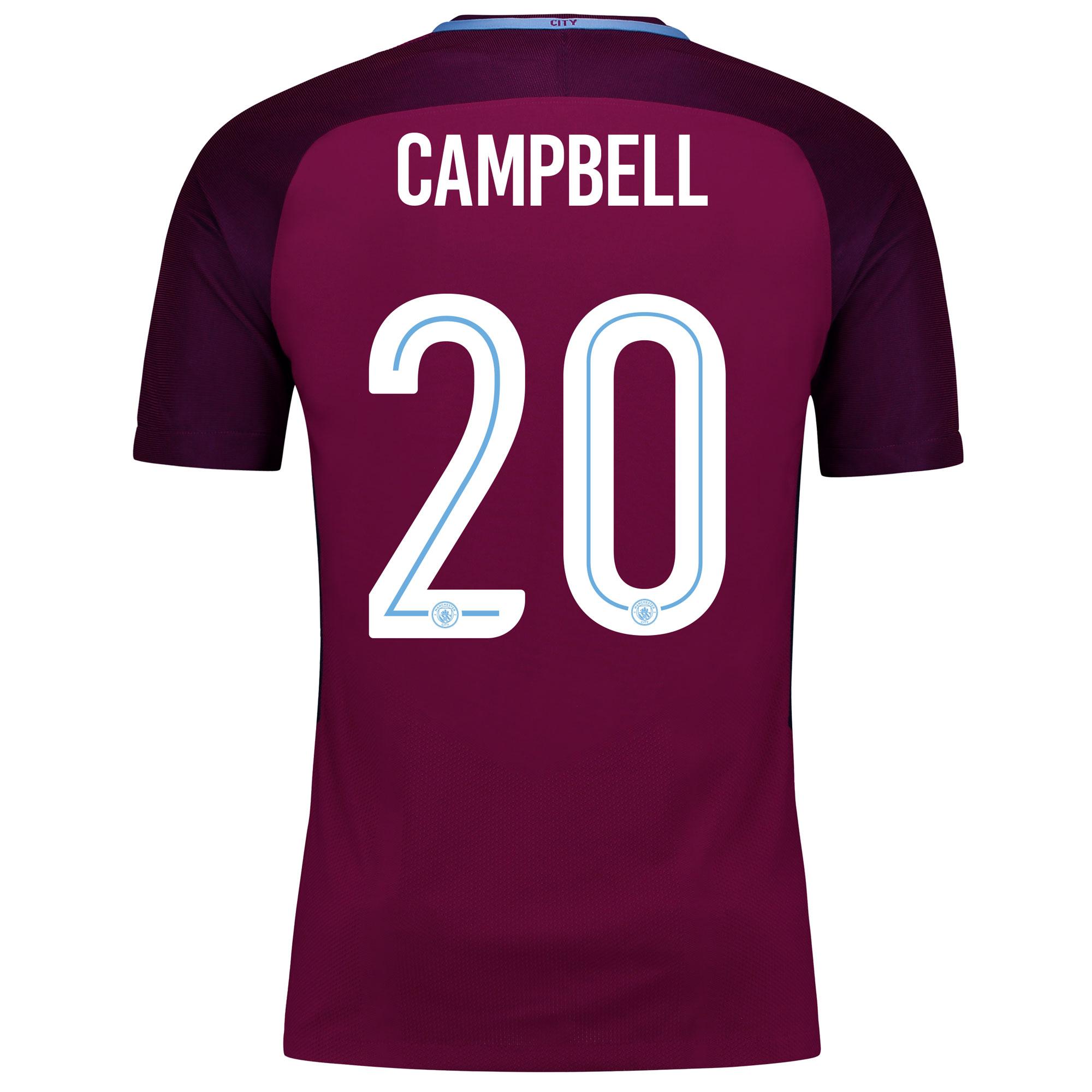 Manchester City Away Vapor Match Cup Shirt 2017-18 with Campbell 20 pr
