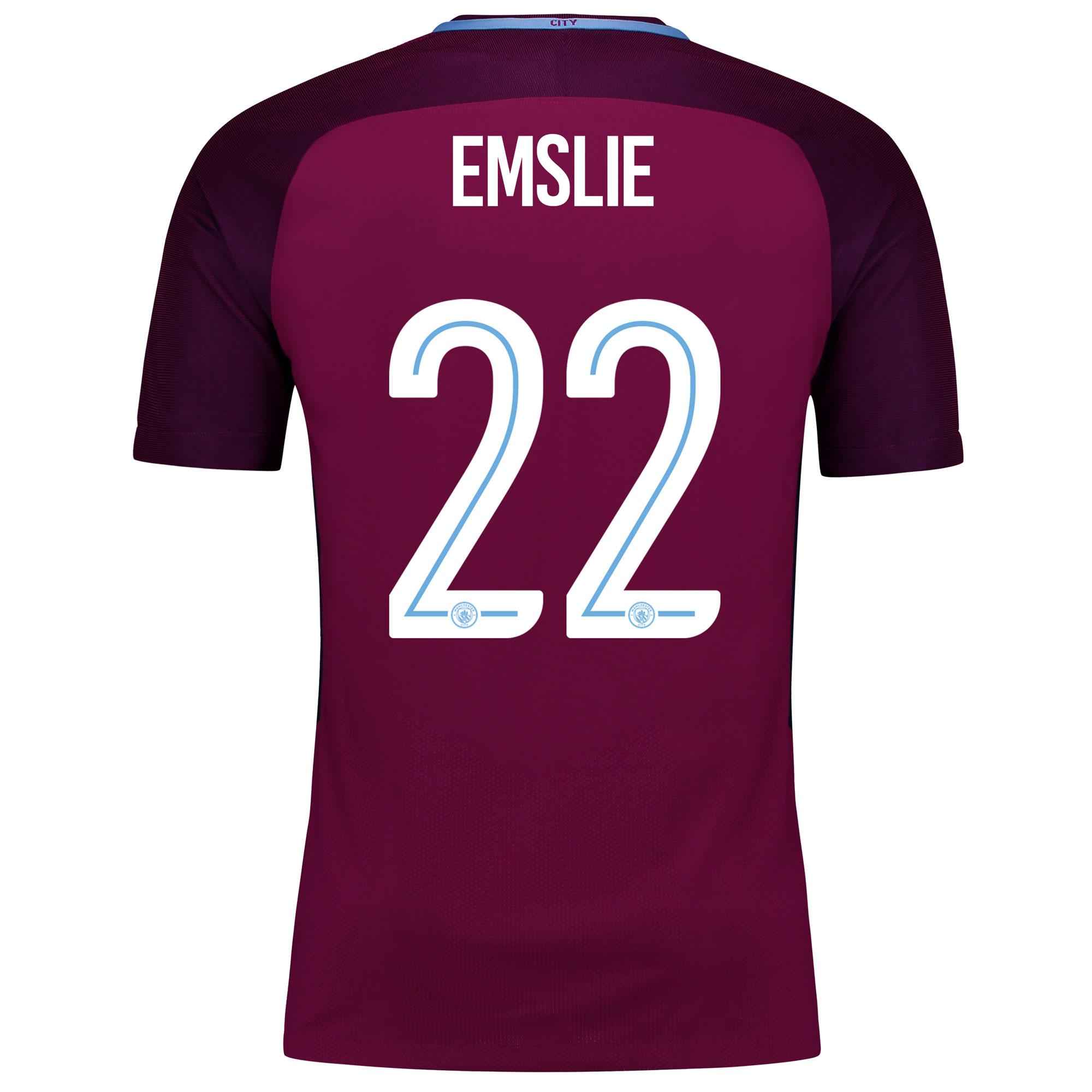 Manchester City Away Vapor Match Cup Shirt 2017-18 with Emslie 22 prin